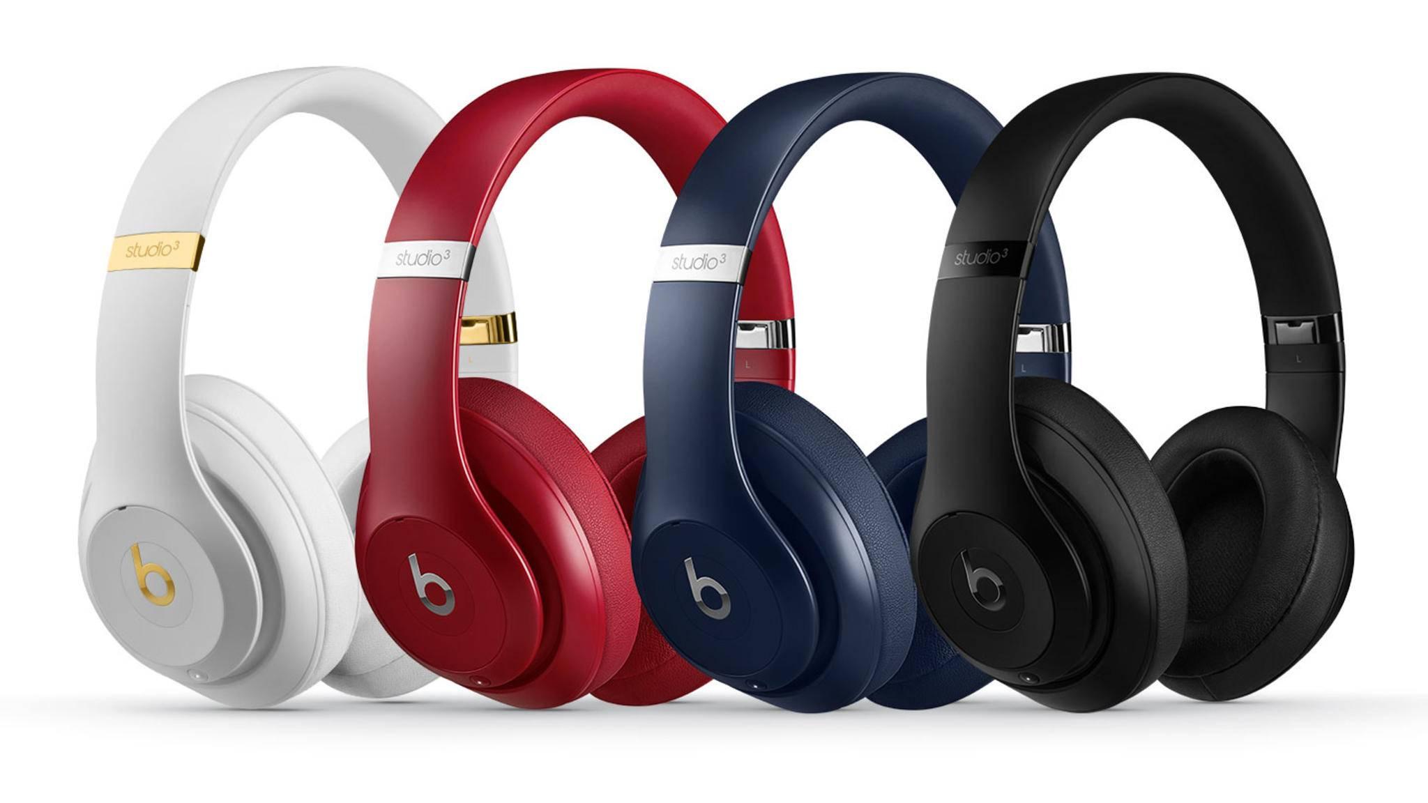 Over-Ear-Kopfhörer gibt es bislang nicht von Apple direkt, sondern nur von der Firmentochter Beats (hier die Beats Studio 3).