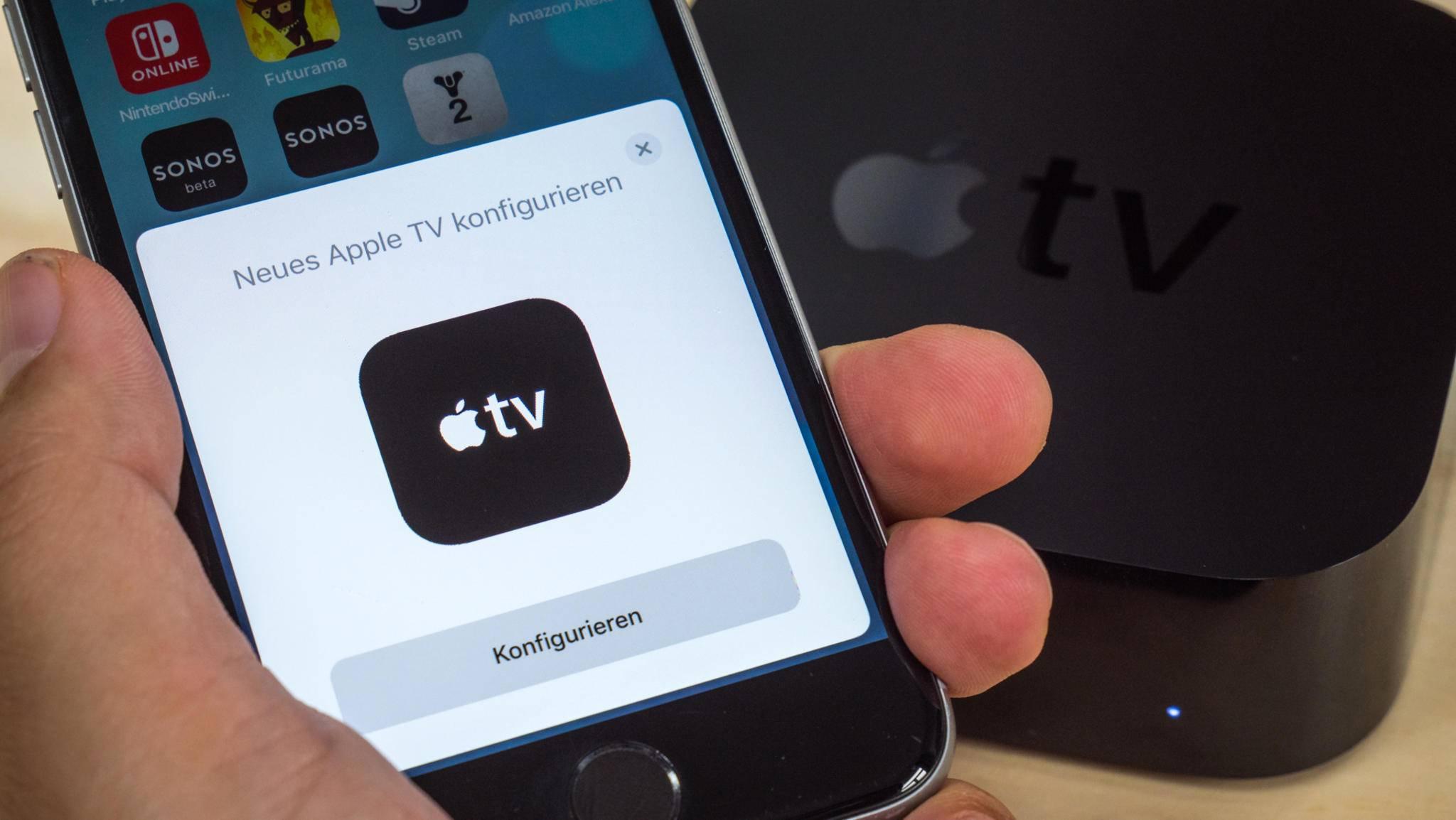 Hast Du keine Fernbedienung zur Hand, kannst Du den Apple TV auch per App steuern.