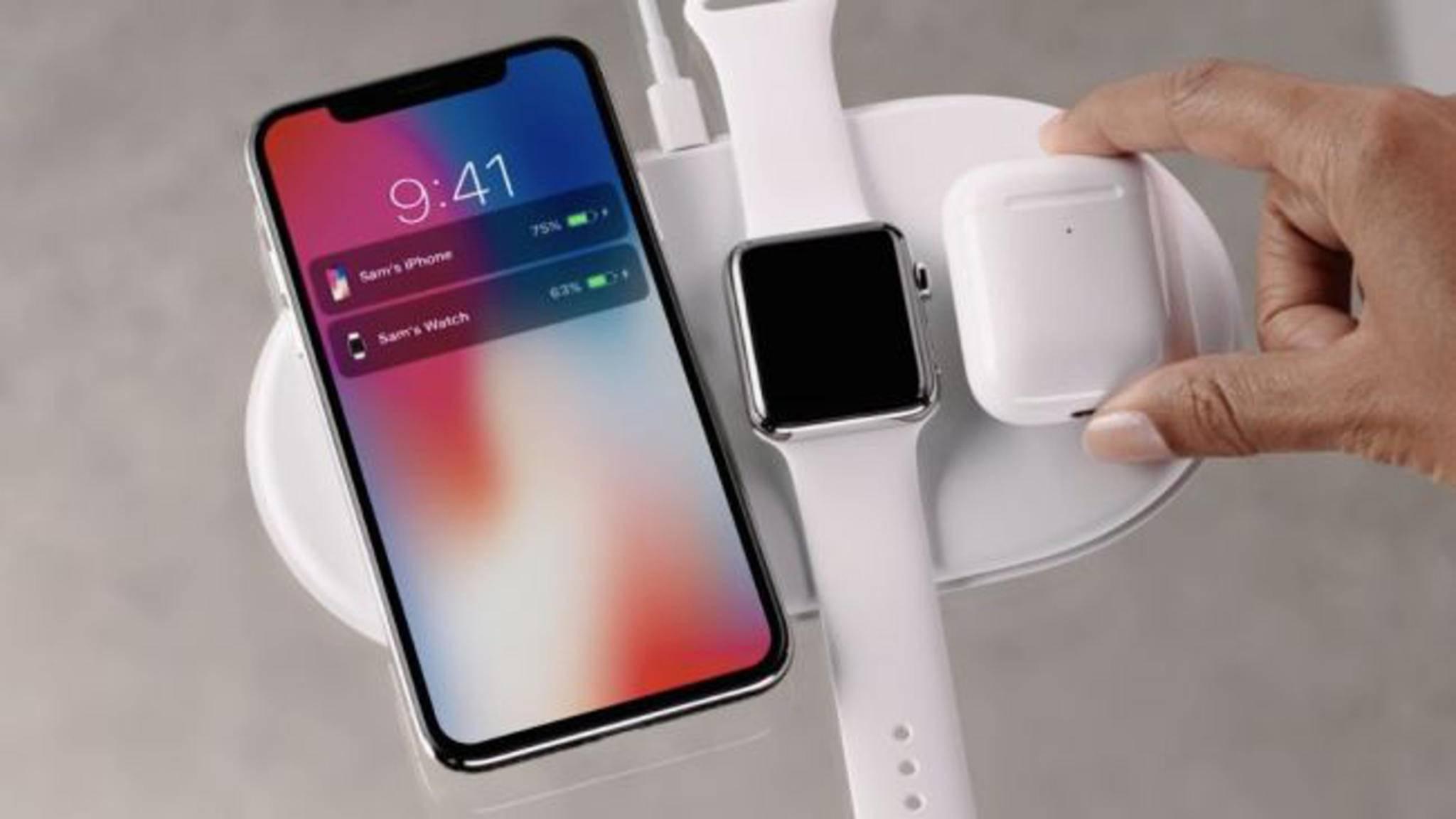 Mit AirPower können mehrere Apple-Geräte gleichzeitig geladen werden.
