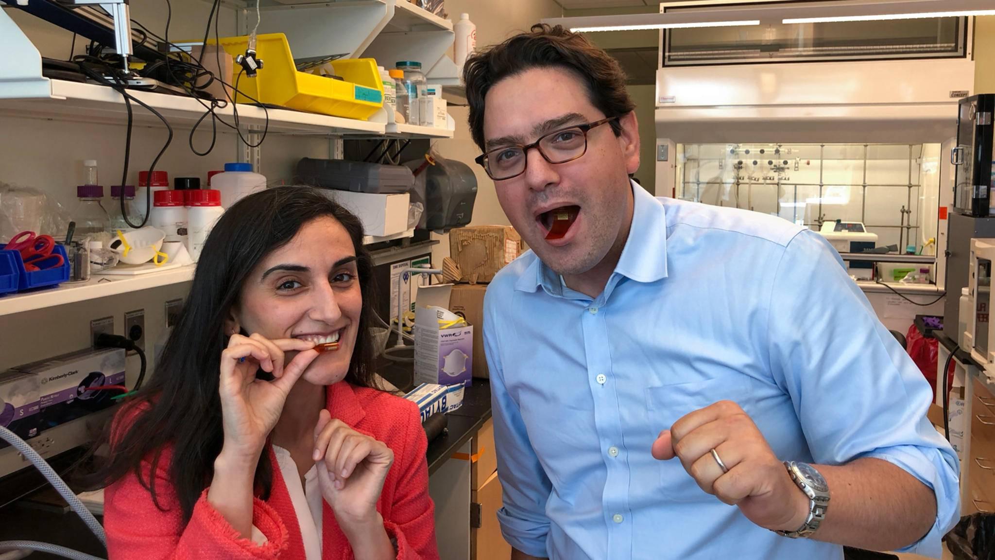 Am MIT haben Wissenschaftler einen essbaren Sensoren entwickelt.