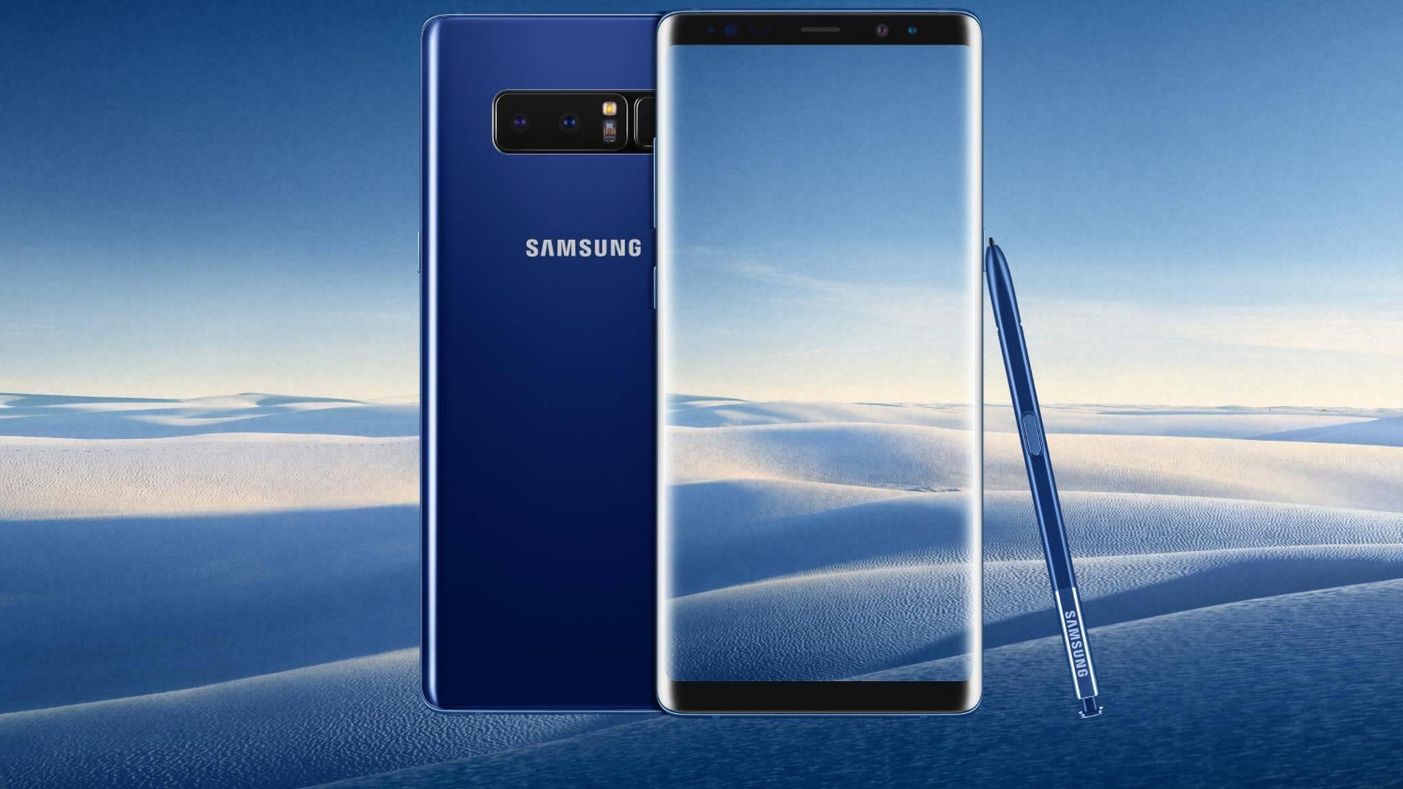 Das Galaxy Note 8 gibt es nun auch in Meeresblau zu kaufen.