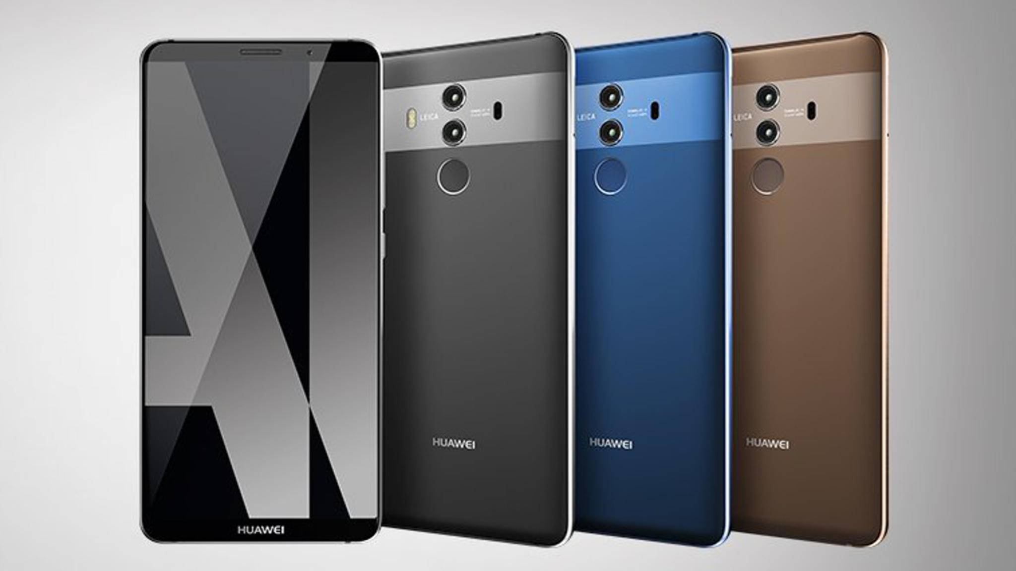 Das Huawei Mate 10 Pro soll eine nie dagewesene KI bieten.