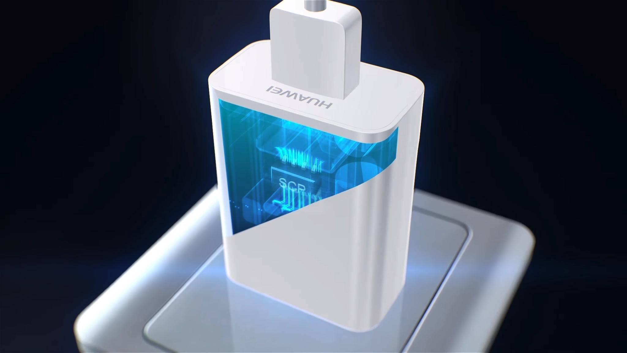 Huaweis SuperCharge funktioniert mit SCP-Chips für die Kommunikation zwischen Ladegerät und Smartphone.