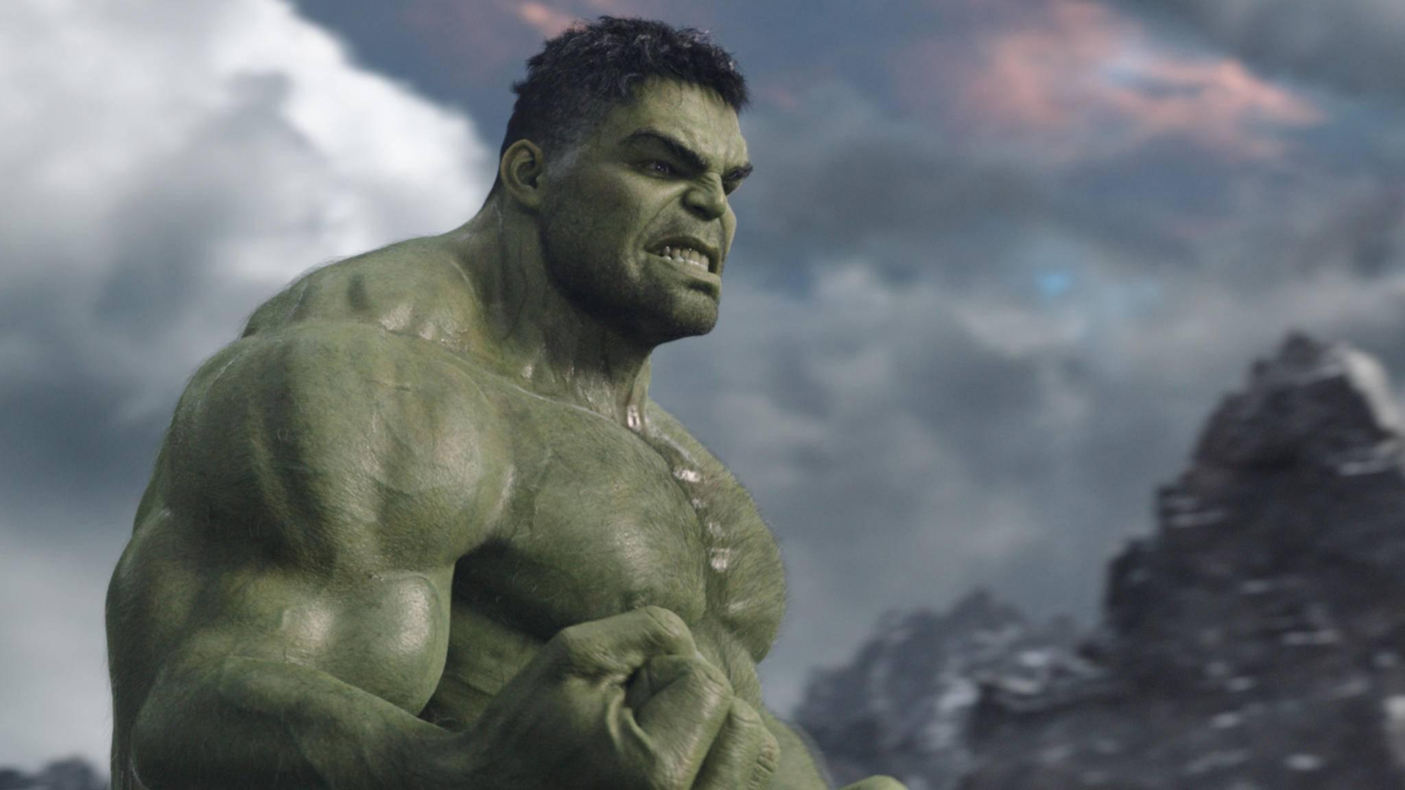 """Zugegeben: Eine gewisse Ähnlichkeit besteht zwischen """"The Rock"""" und dem Hulk ja schon ..."""