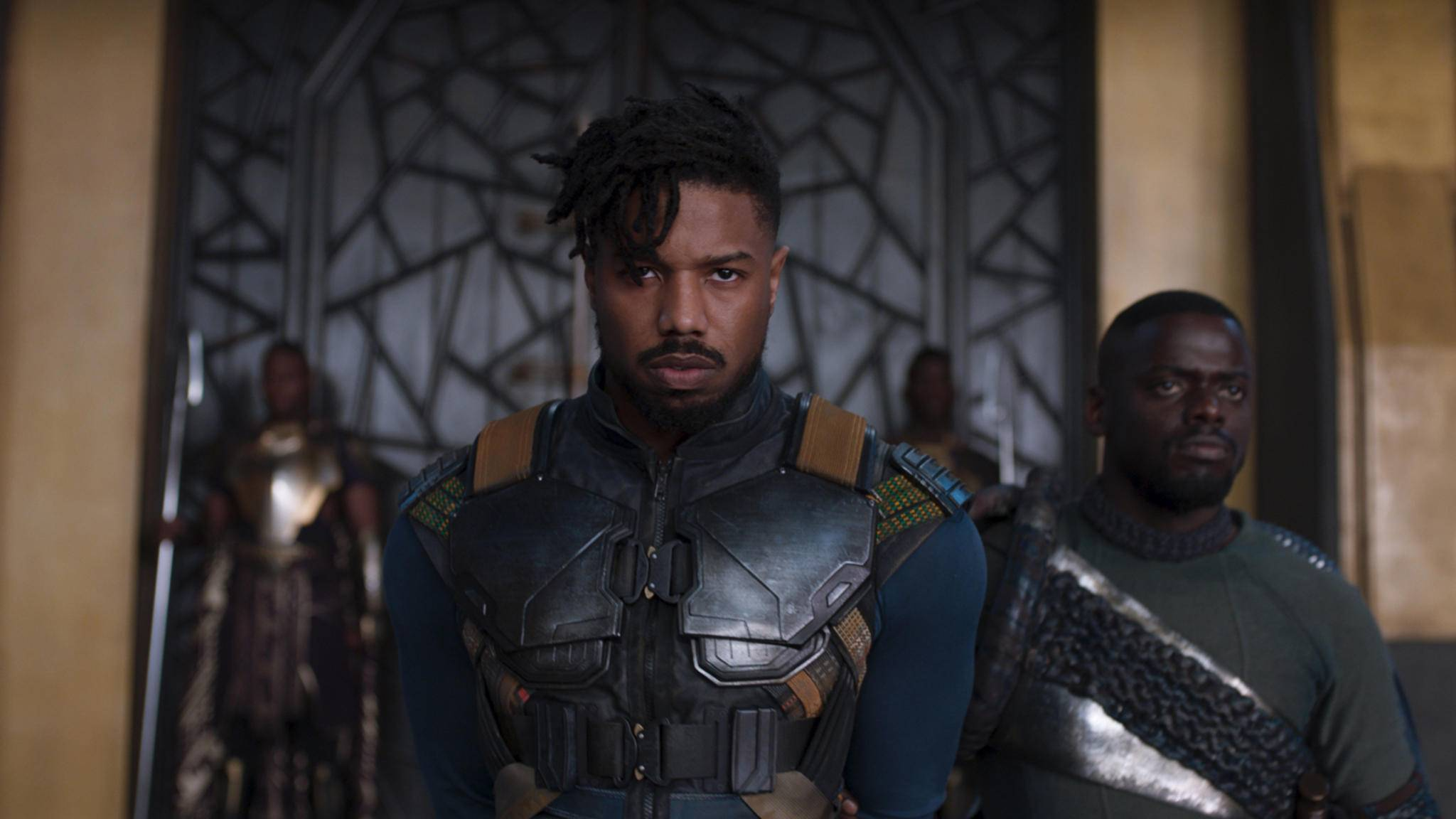 """So grimmig hat Michael B. Jordan in """"Black Panther"""" geguckt."""