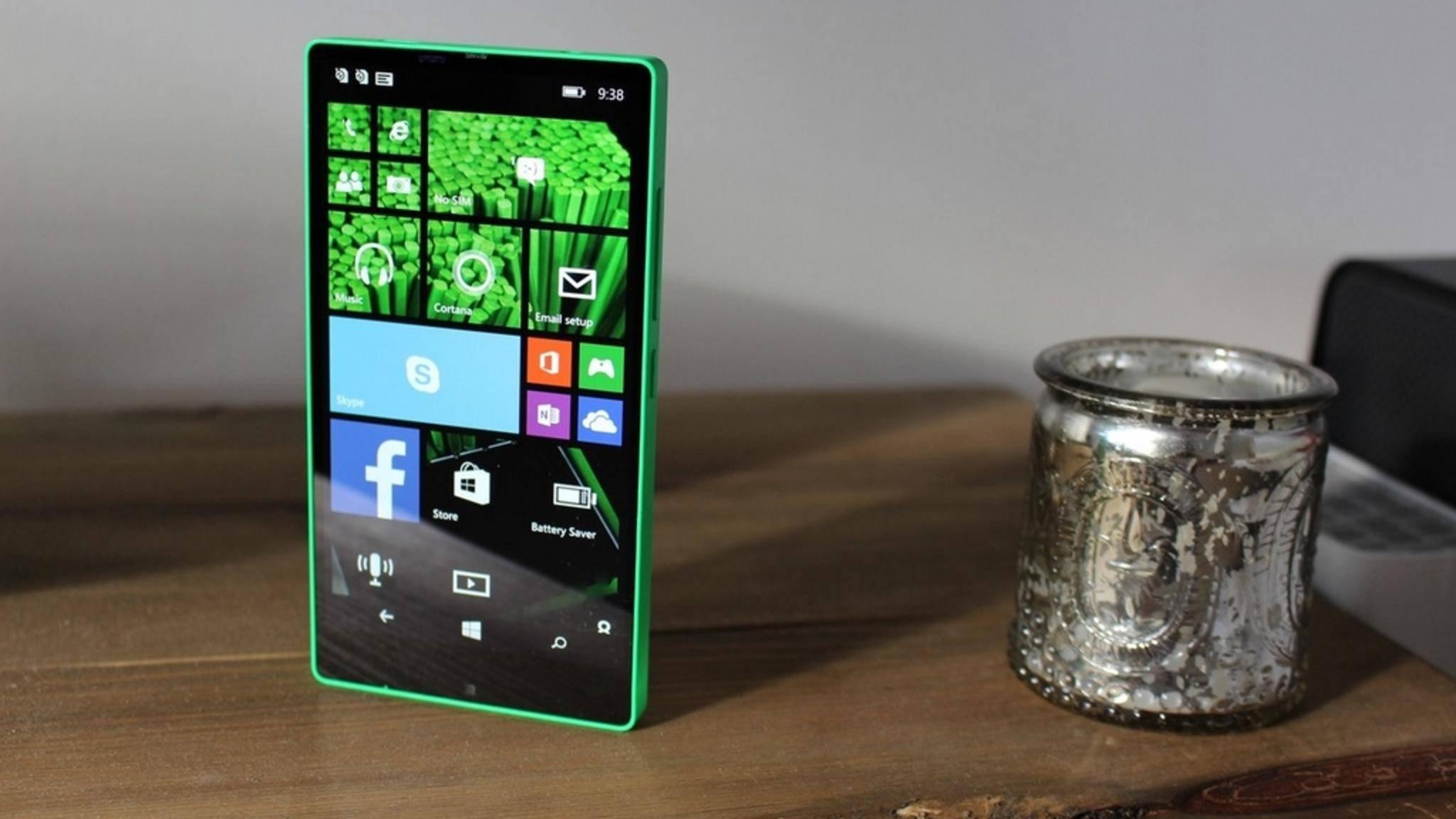 So sollte das beinahe randlose Lumia 435 aussehen.