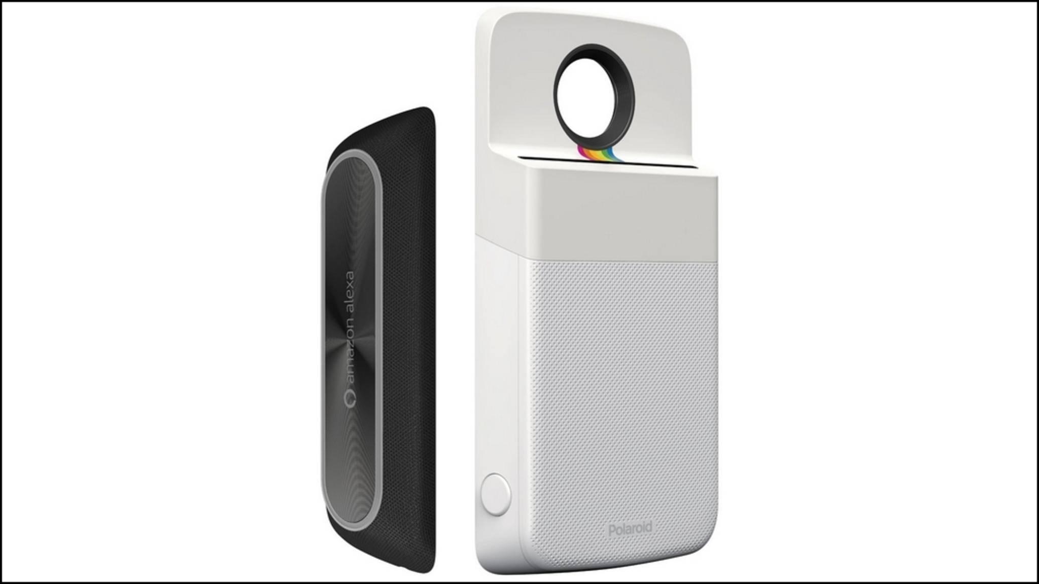 Die neuen Moto-Mods von Amazon und Polaroid.