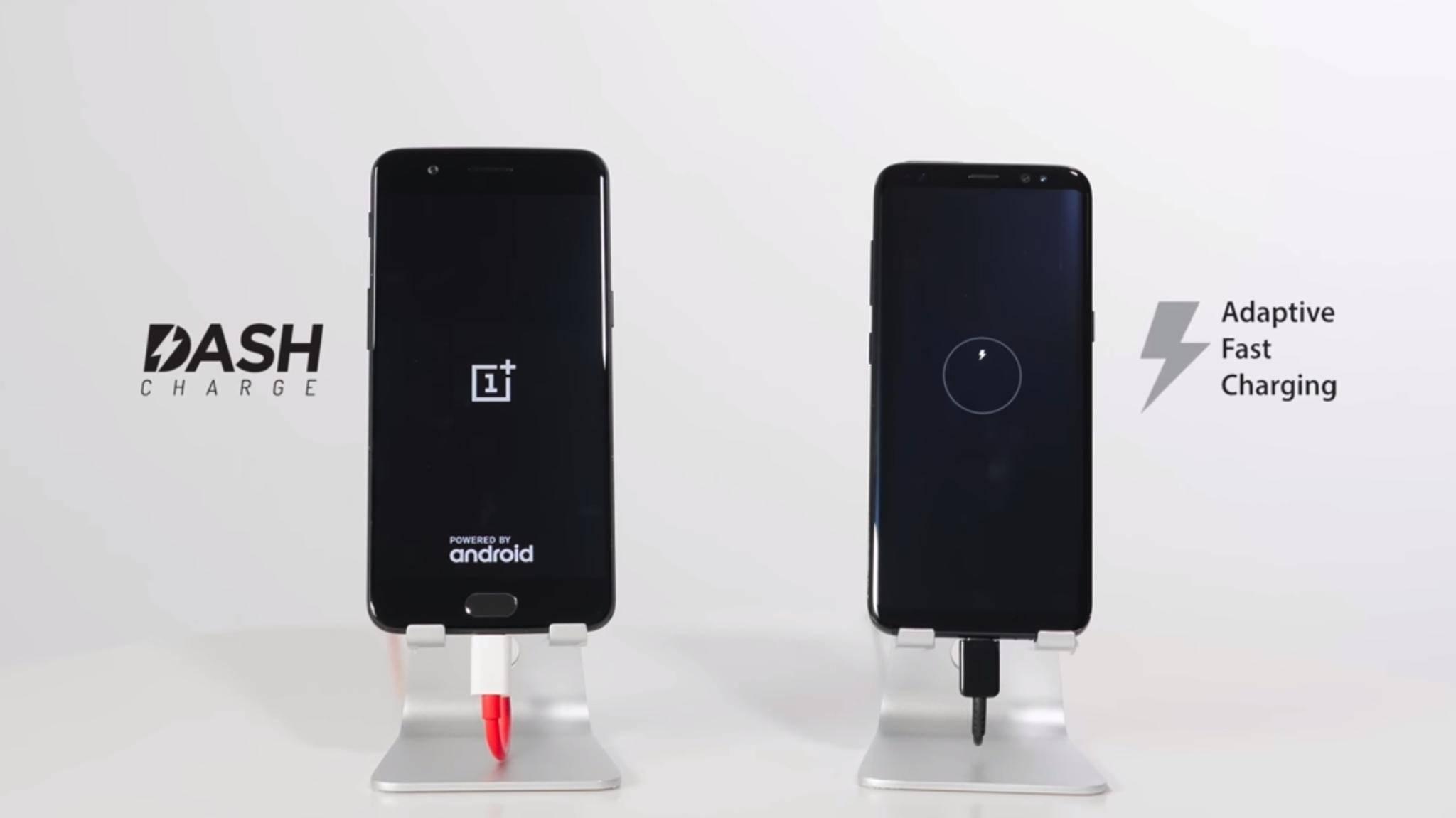 Dash Charge ist etwas schneller als das Adaptive Fast Charging des Galaxy S8.