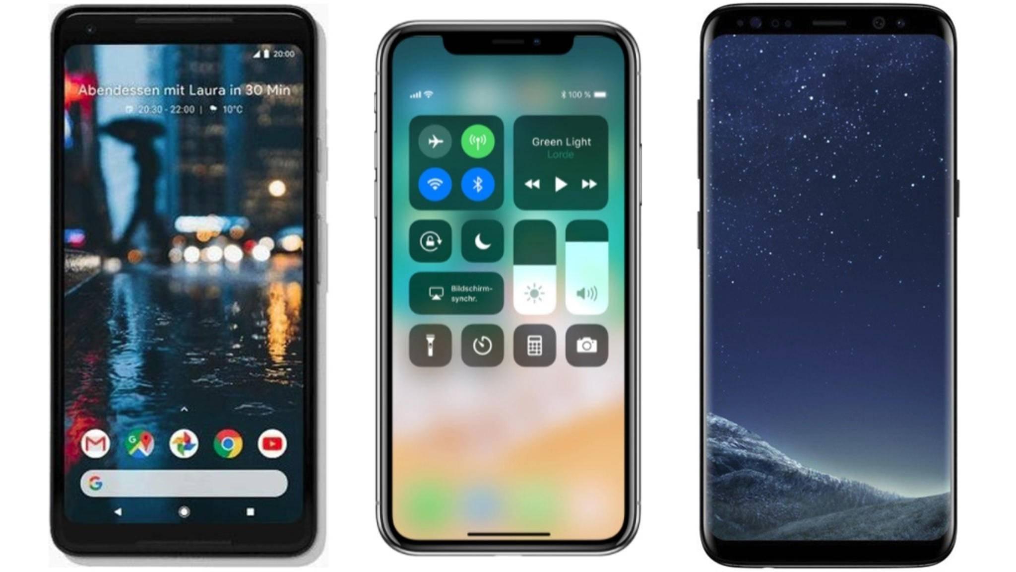 Hat das Pixel 2 XL, das iPhone X oder das Galaxy S8 mehr zu bieten?
