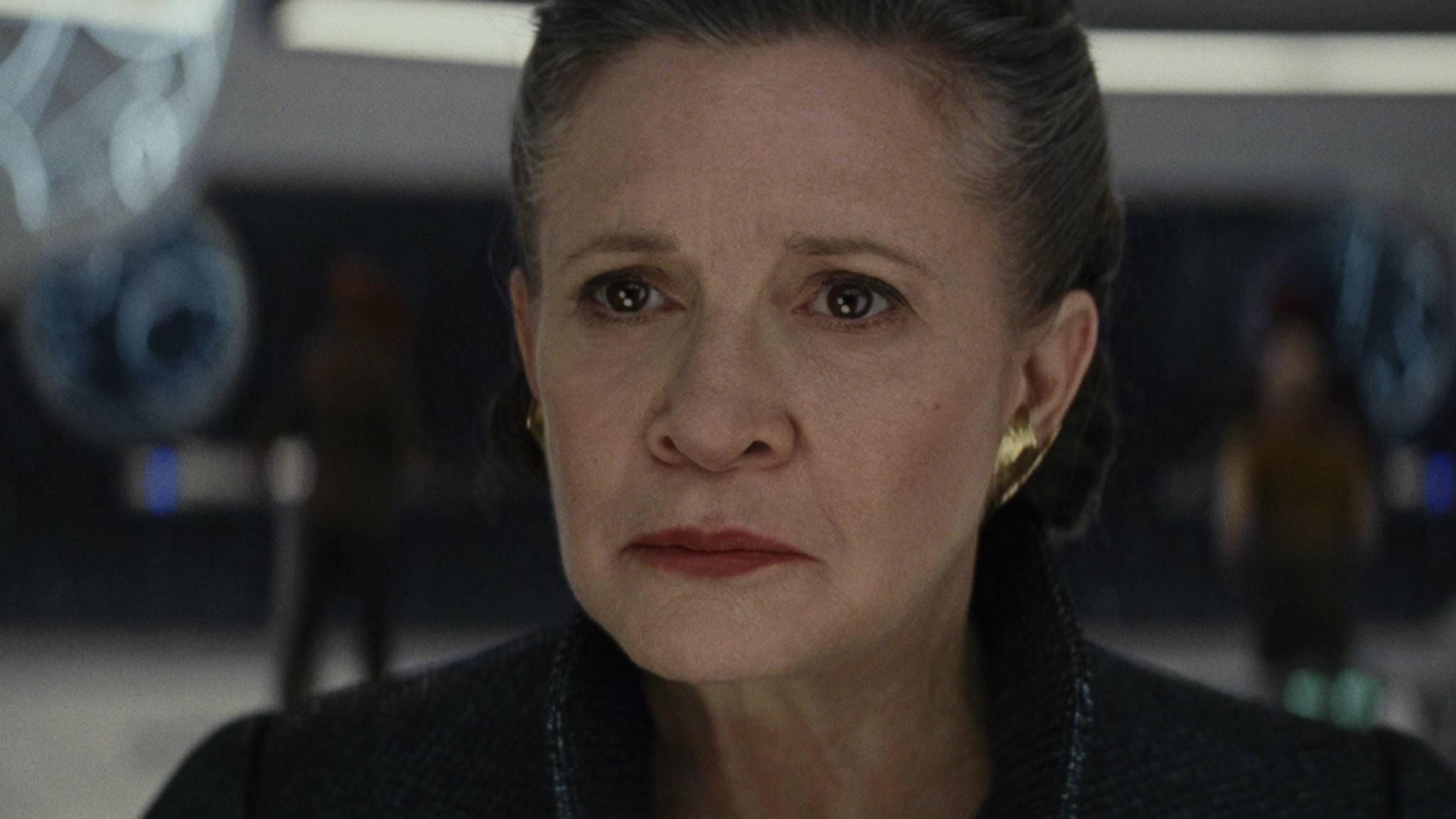 """Carrie Fisher ist als Leia auch in """"Star Wars: Der Aufsteig Skywalkers"""" zu sehen."""