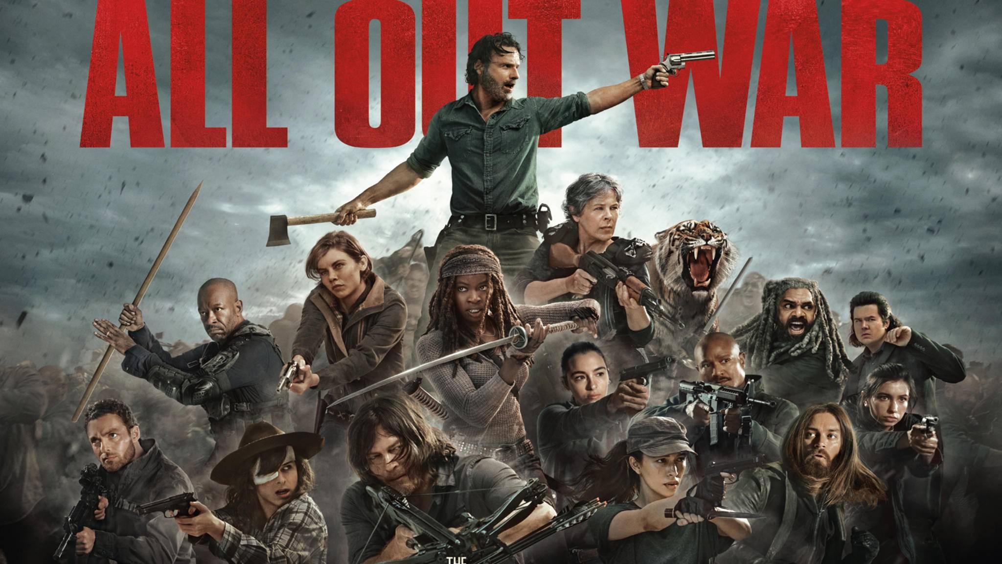 """Obwohl es in Staffel 8 von """"The Walking Dead"""" ohnehin schon hoch hergehen wird, dürfen sich Fans jetzt wohl sogar auf ein Cross-over mit """"Fear the Walking Dead"""" freuen."""
