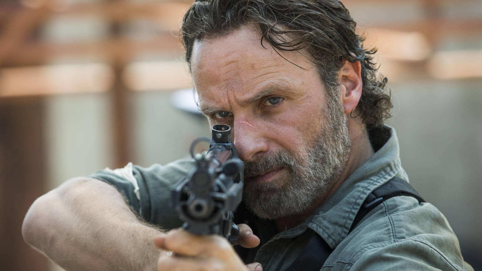Rick hat genug vom Reden – jetzt lässt er die Waffen das Wort ergreifen.