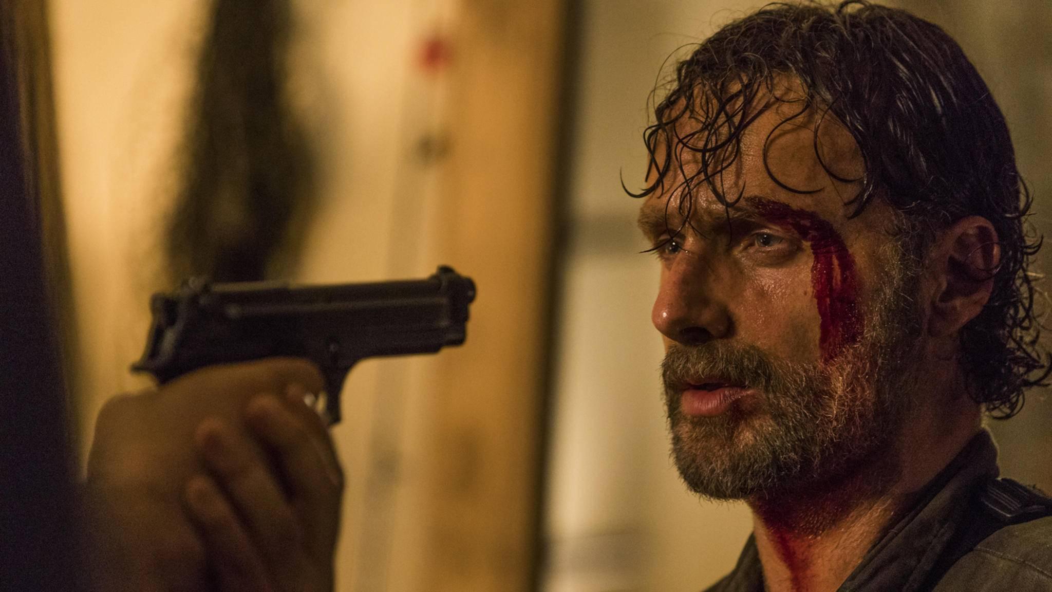 """Rick hat in Staffel 8 von """"The Walking Dead"""" nicht nur mit offensichtlichen Bedrohungen zu kämpfen."""