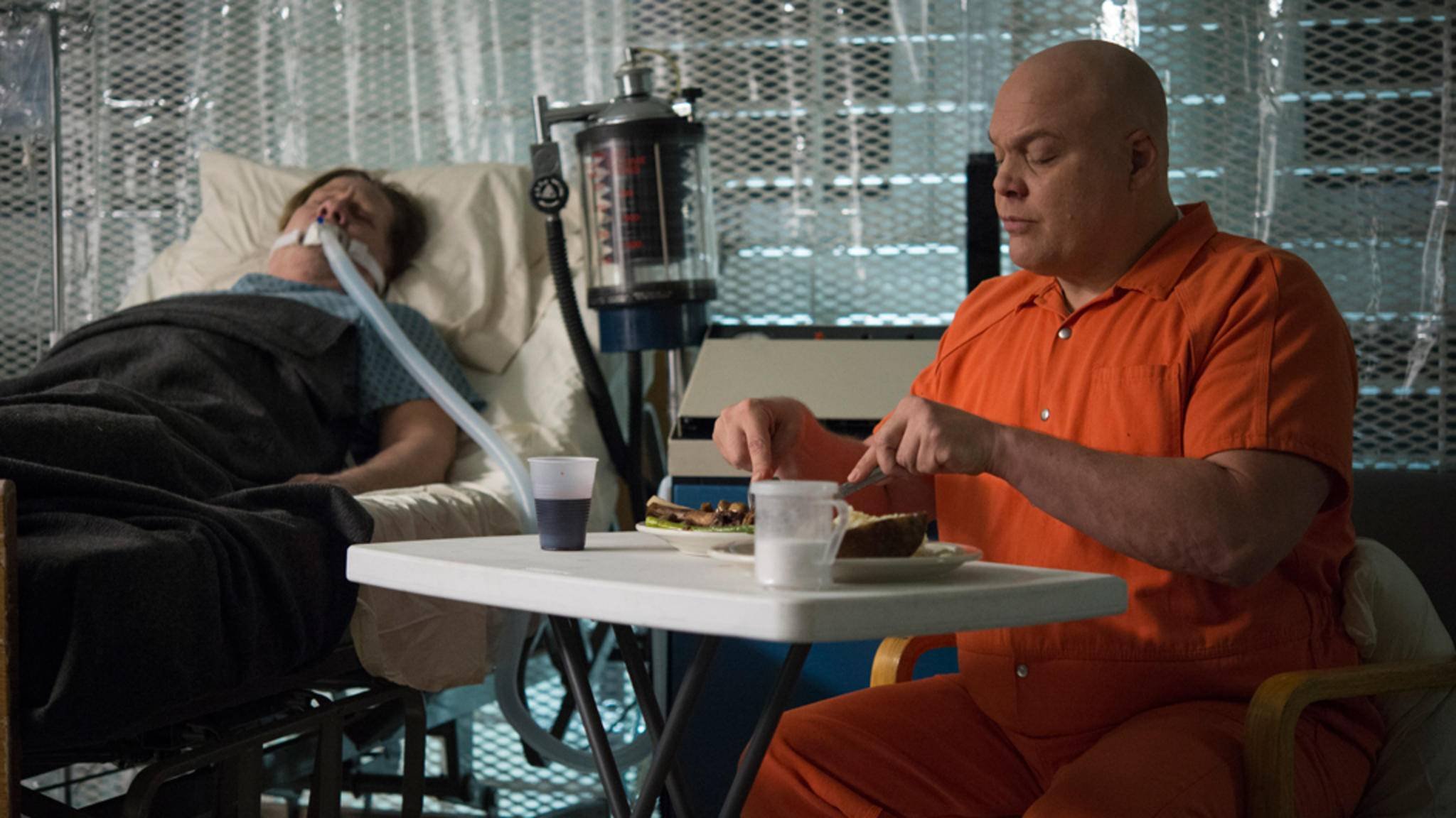 """In Staffel 2 von """"Daredevil"""" gab es lediglich kurze Blicke auf Fisk alias Kingpin als Häftling."""