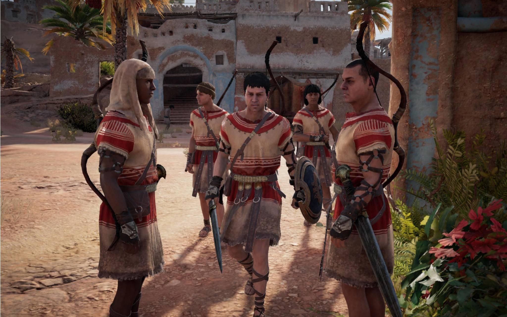 Zu Beginn des Spiels tauchen fiese feindliche Soldaten auf, ...