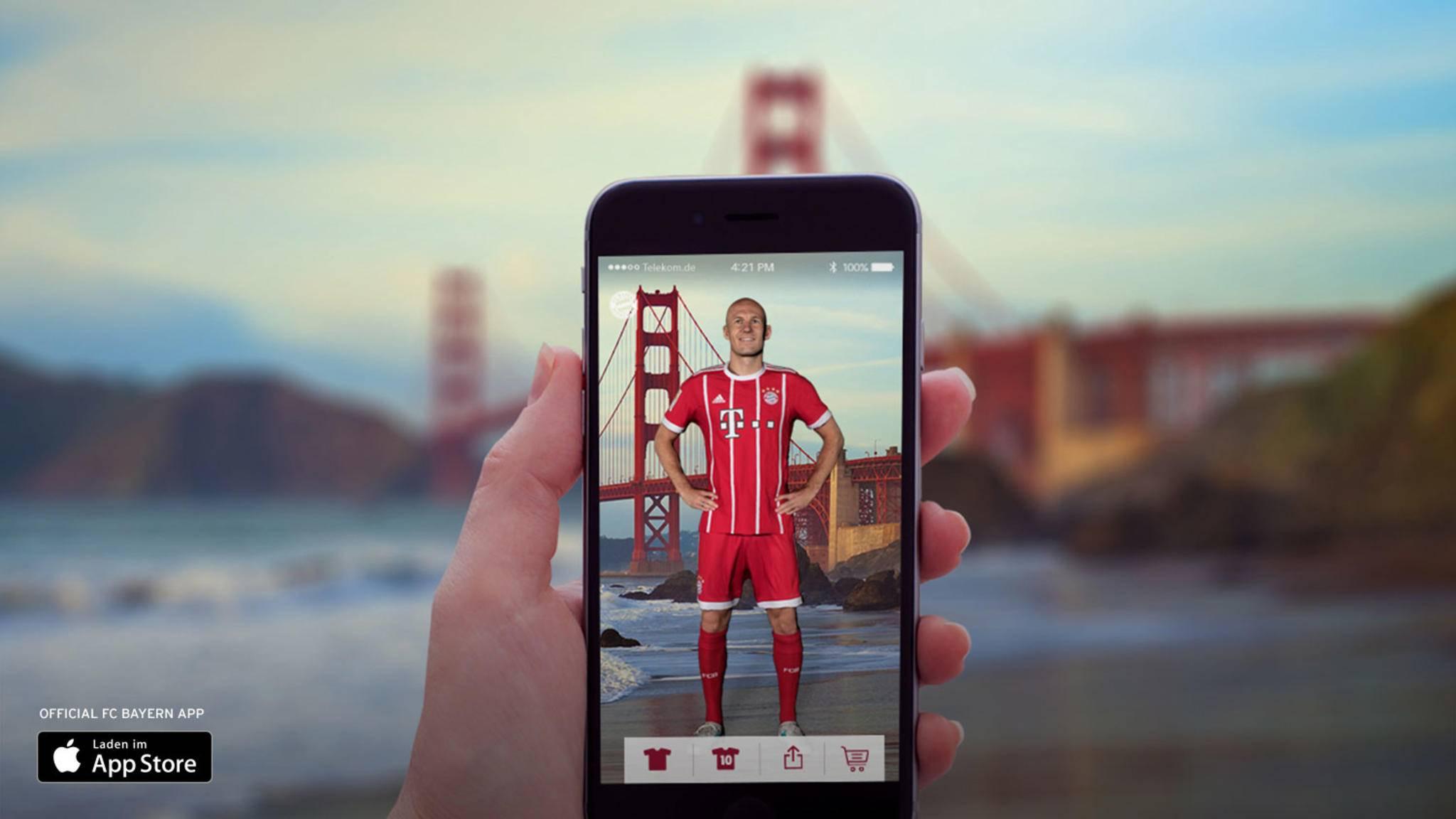Gemeinsames Foto mit Arjen Robben gefällig? Mit der AR-App der Bayern ist das jetzt möglich.