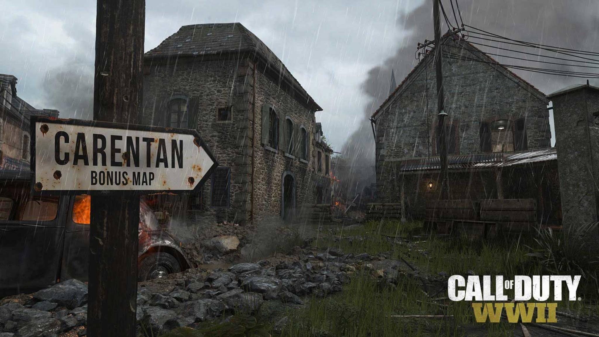 """Die Map Carentan wird für Inhaber des Season Pass von """"Call of Duty: WW2"""" verfügbar sein,"""