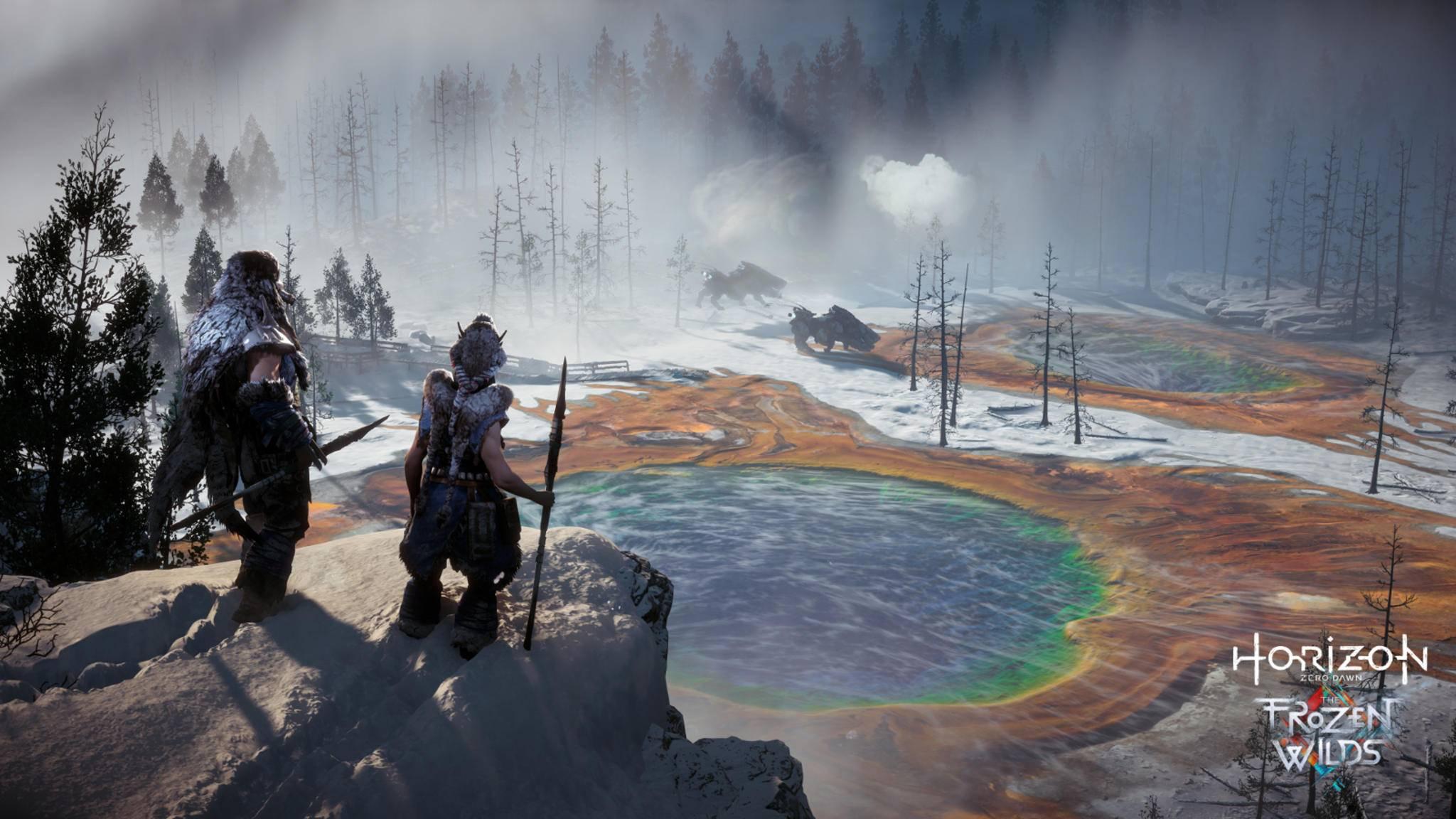 """""""Horizon Zero Dawn"""": An den heißen Quellen findest Du meist wertvolle Pigmente."""