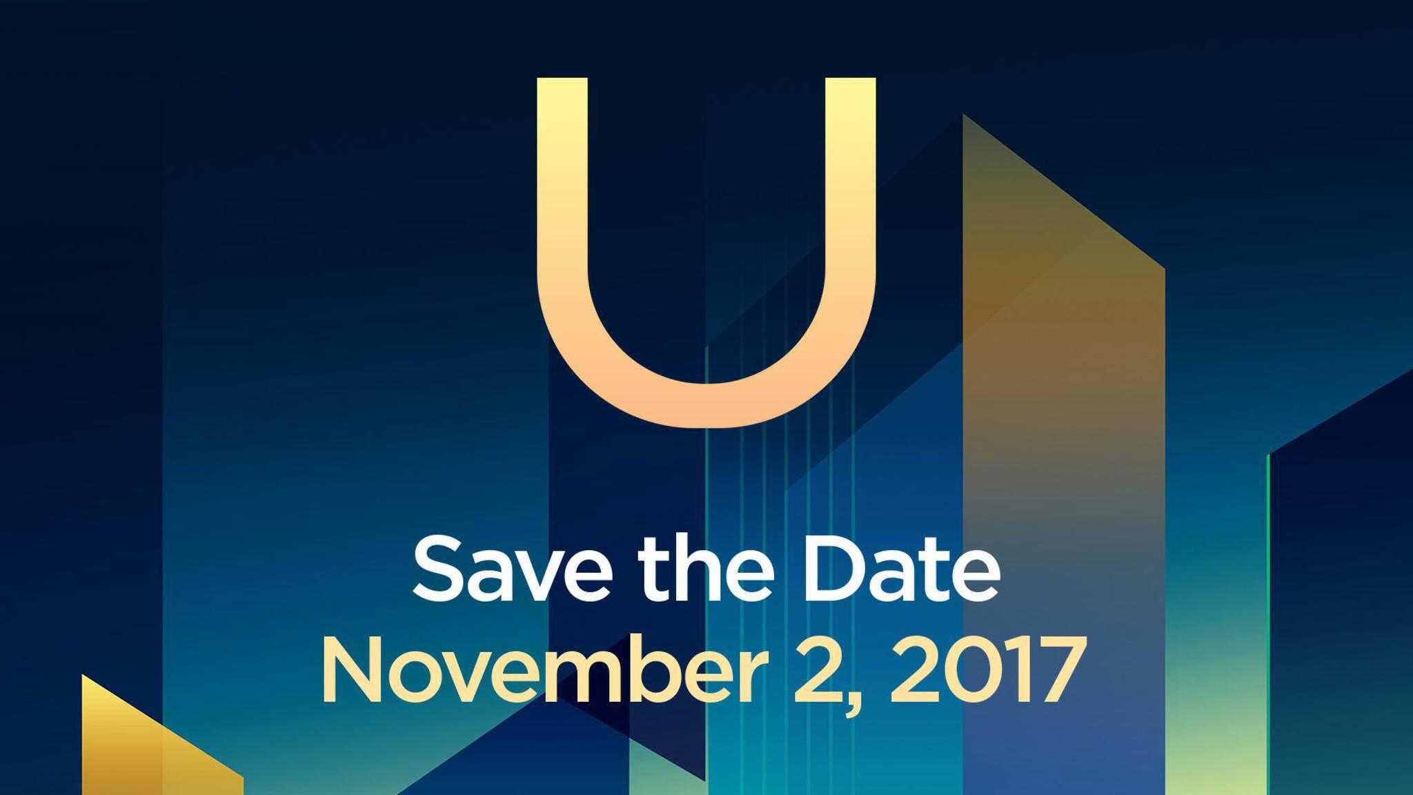 Am 2. November wird HTC voraussichtlich das HTC U11 Plus zeigen.
