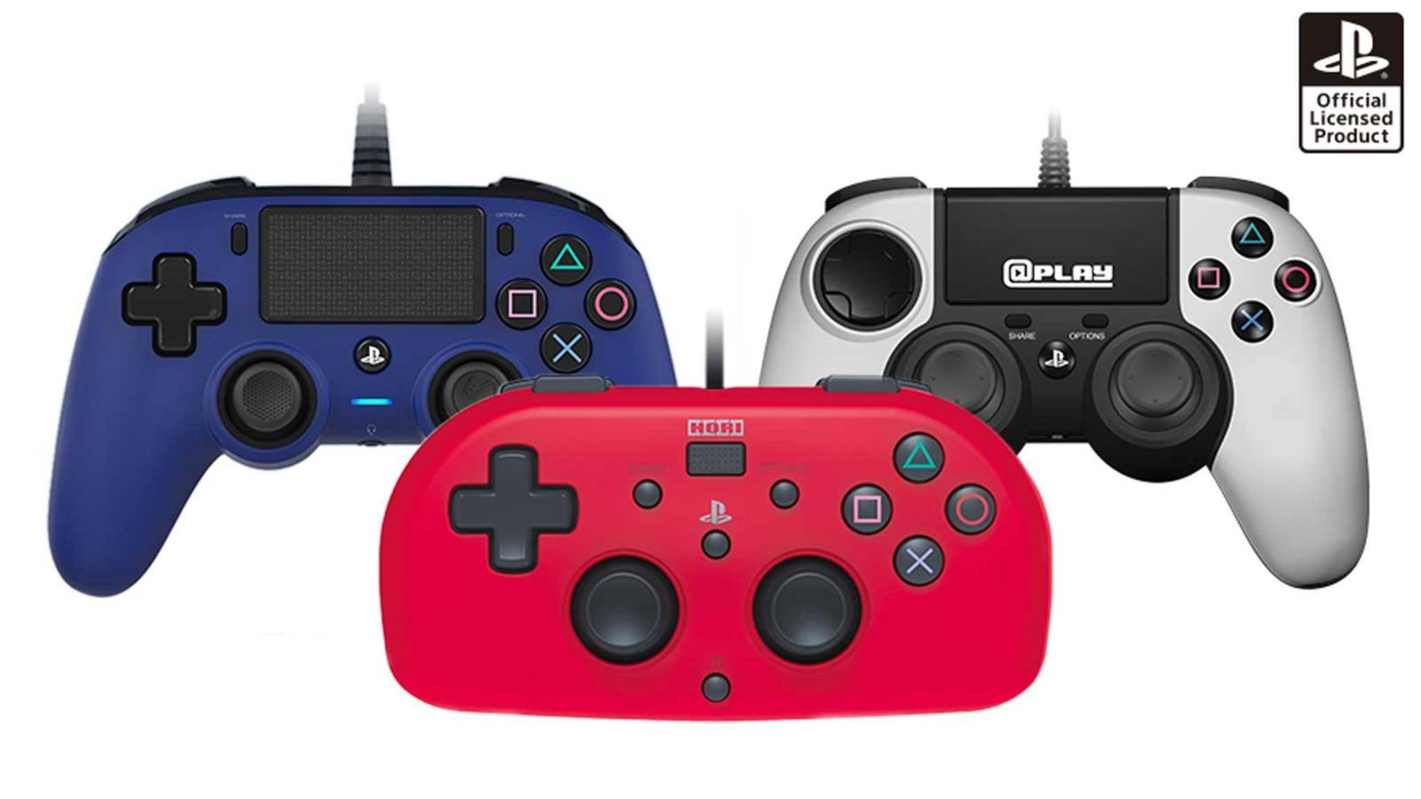 Die neuen kompakten Controller für die PS4.