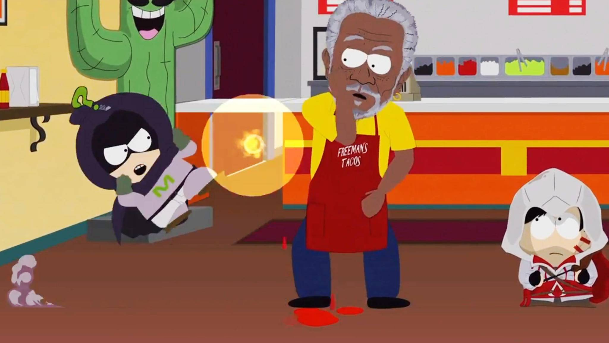 """South Park: Die rektakuläre Zerreißprobe"": So besiegst Du Morgan Freeman!"