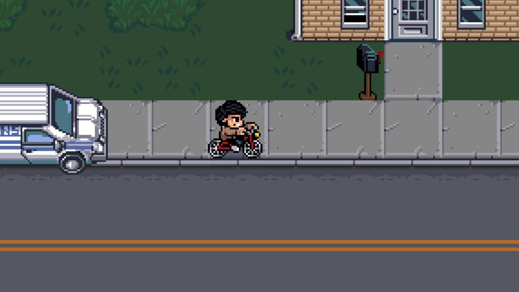 Verfolgungsjagden auf dem Fahrrad dürfen natürlich nicht fehlen.