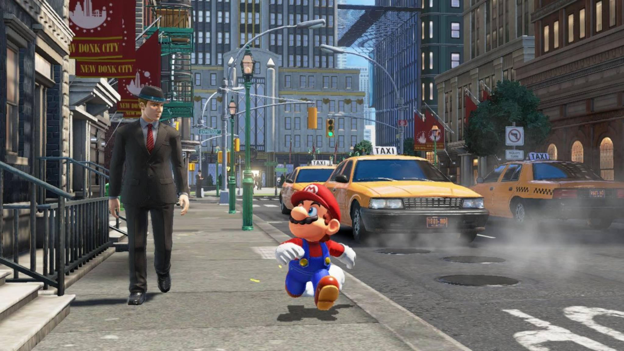 """Ein Fehler in """"Super Mario Odyssey"""" macht Mario sportlicher als das Game erlaubt."""