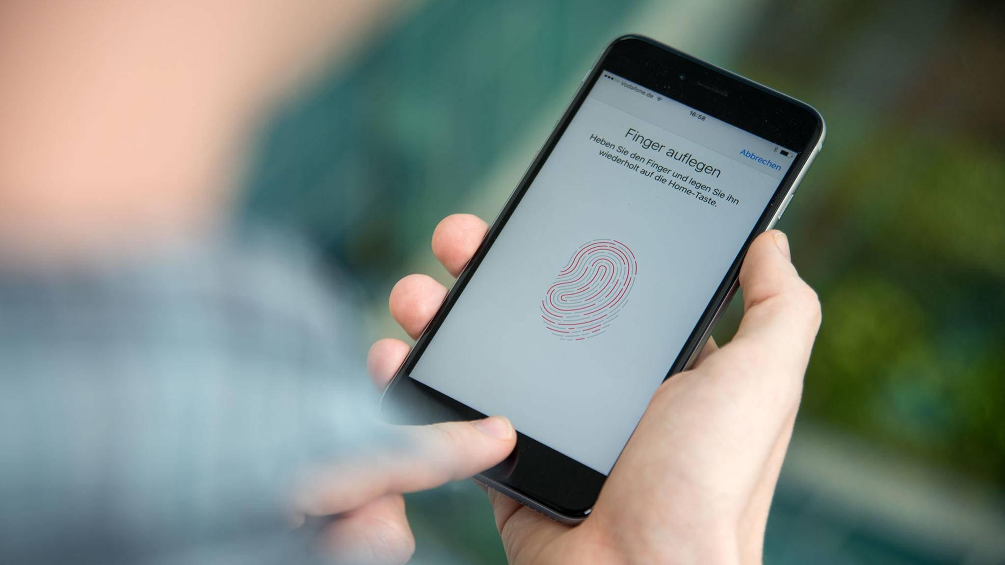 Touch ID gibt es bei aktuellen iPhones nicht mehr.