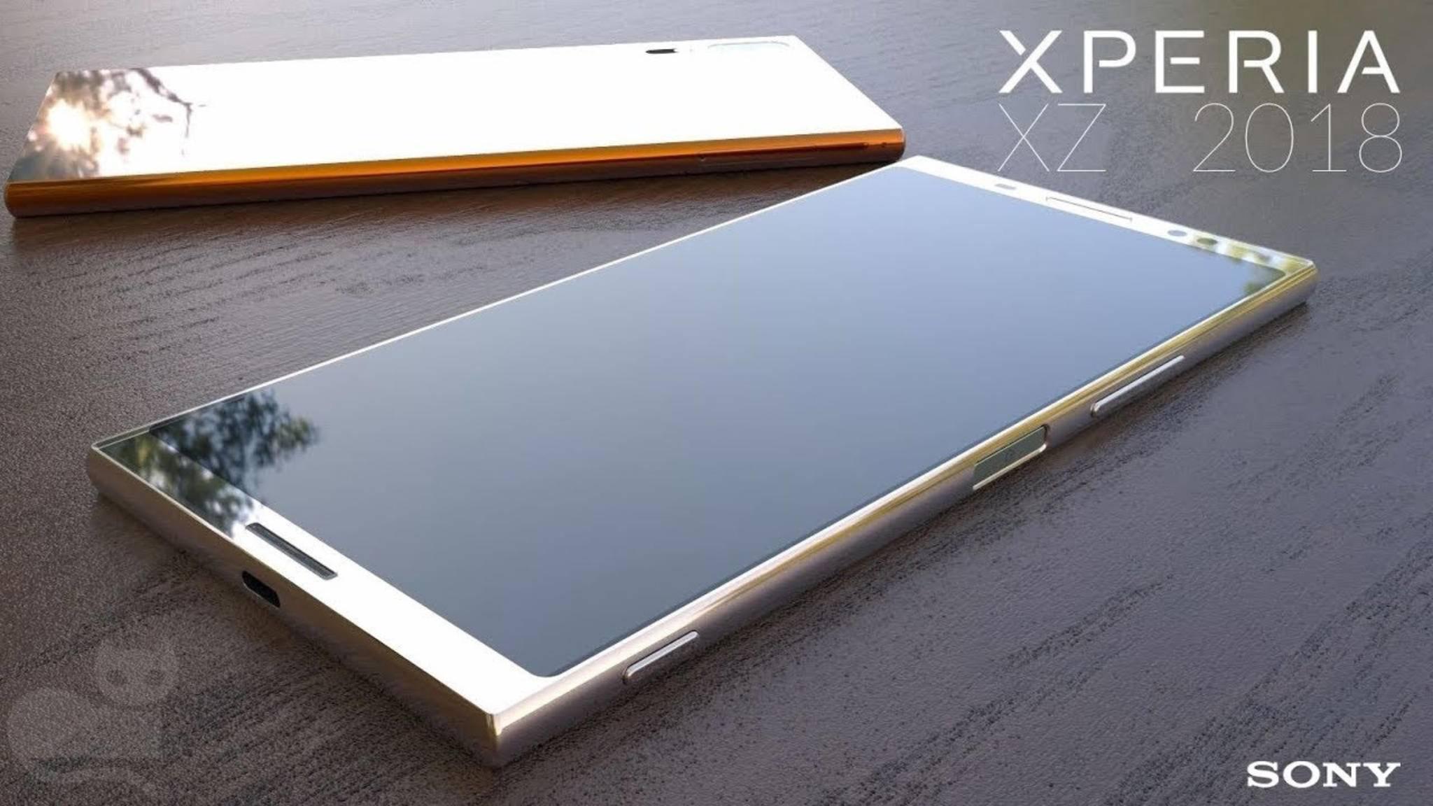 Dünne Displayrahmen und trotzdem größere Bildschirmdiagonale: So könnte das Xperia XZ Premium 2018 aussehen.