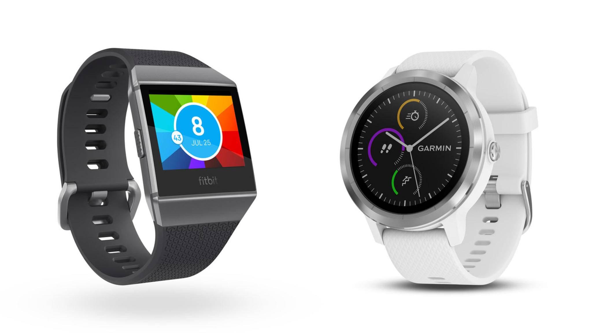 Wer die Fitbit Ionic mit der Garmin Vivoactive 3 vergleicht, stellt fest: Beide Fitness-Smartwatches unterscheidet mehr, als nur das Design.
