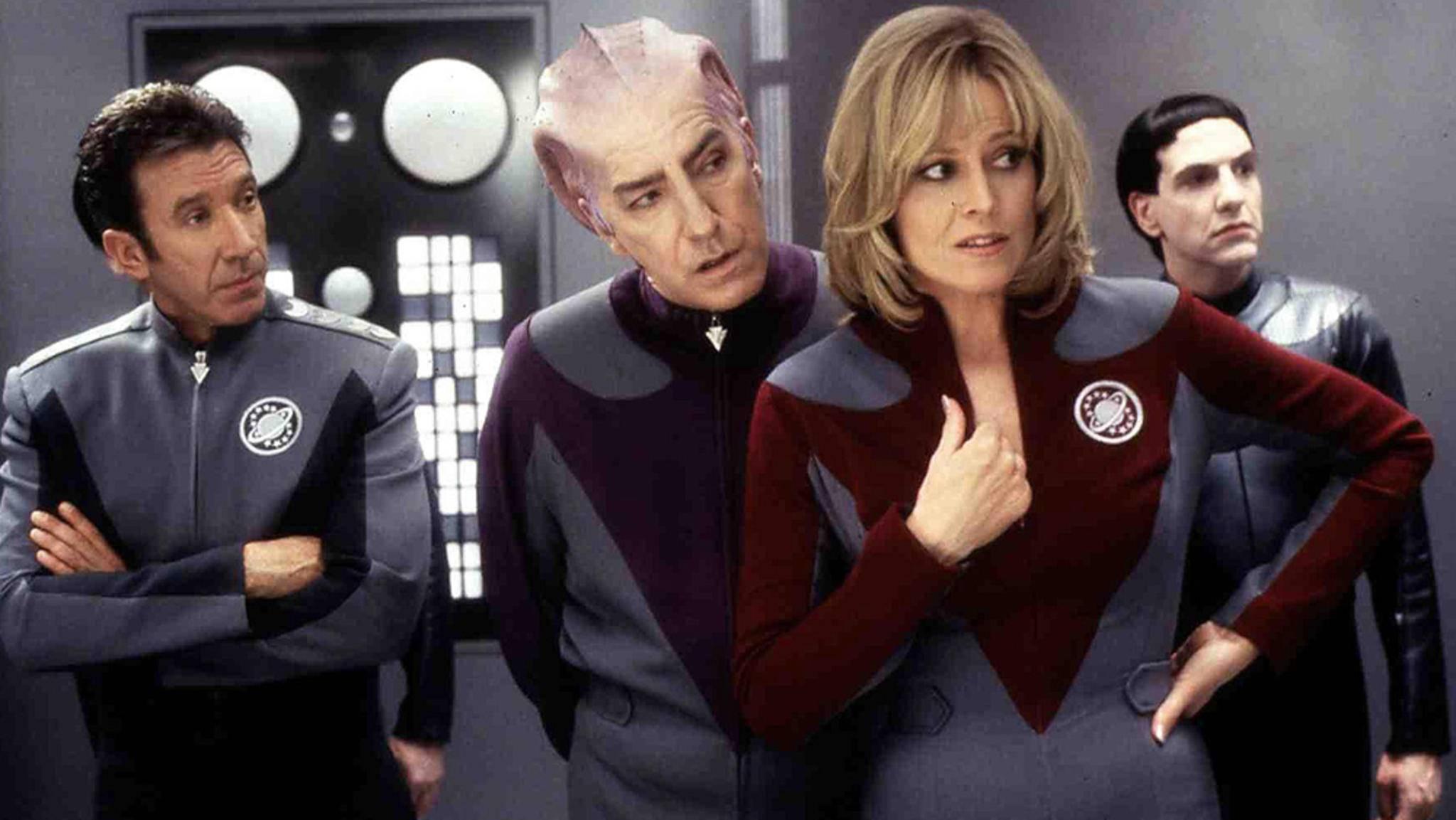 """Ob es in der """"Galaxy Quest""""-Serie wohl ein Wiedersehen mit Tim Allen, Sigourney Weaver und Co. geben wird?"""