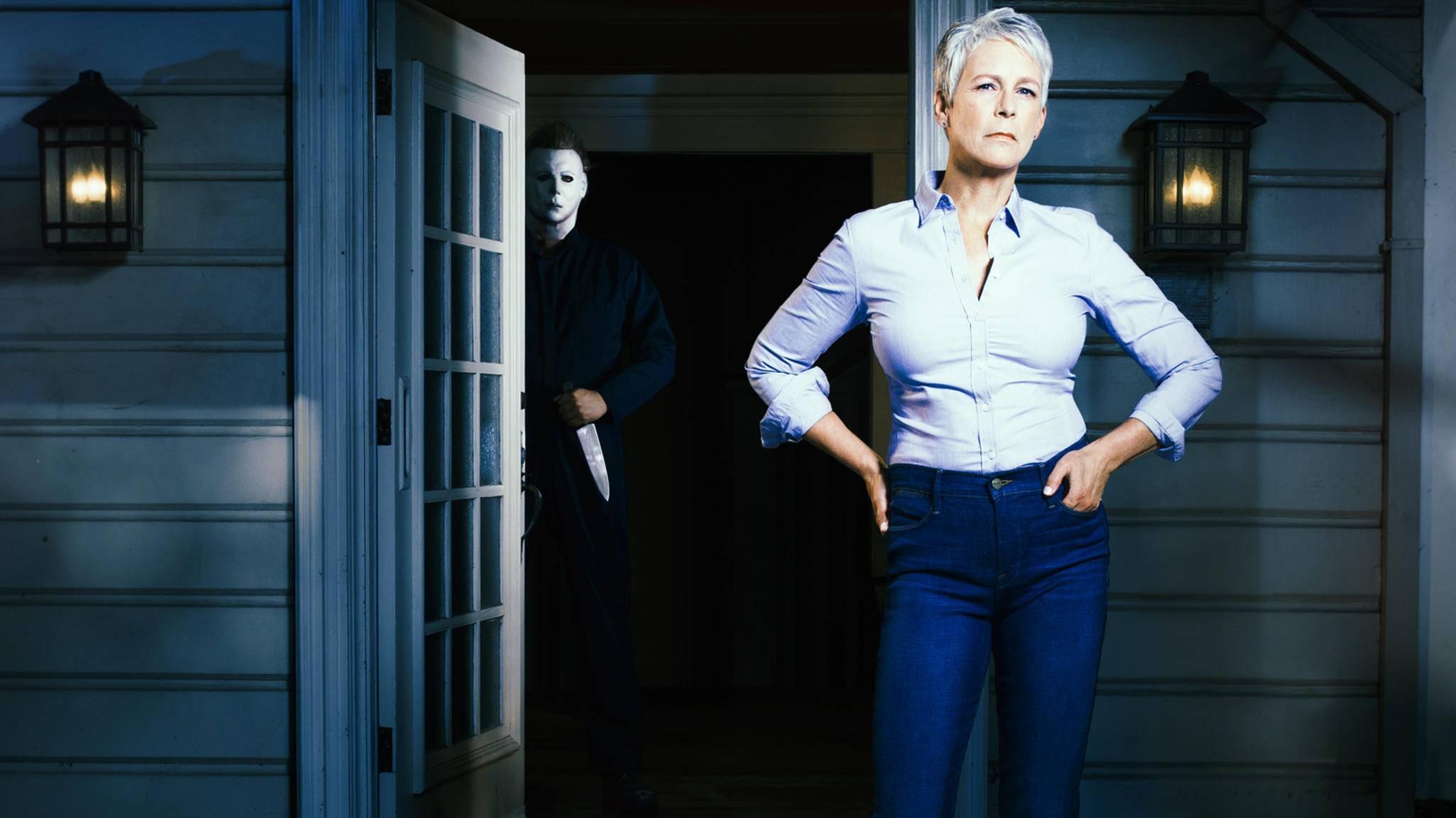 """Im neuen """"Halloween""""-Sequel muss es Jamie Lee Curtis einmal mehr mit Michael Myers aufnehmen."""