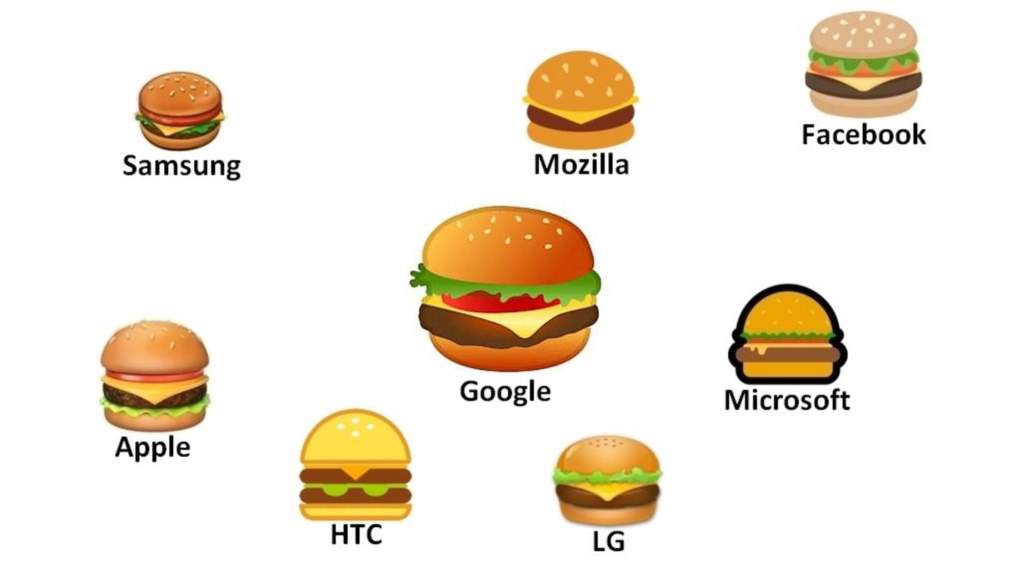 Google hat sein Burger-Emoji überarbeitet.