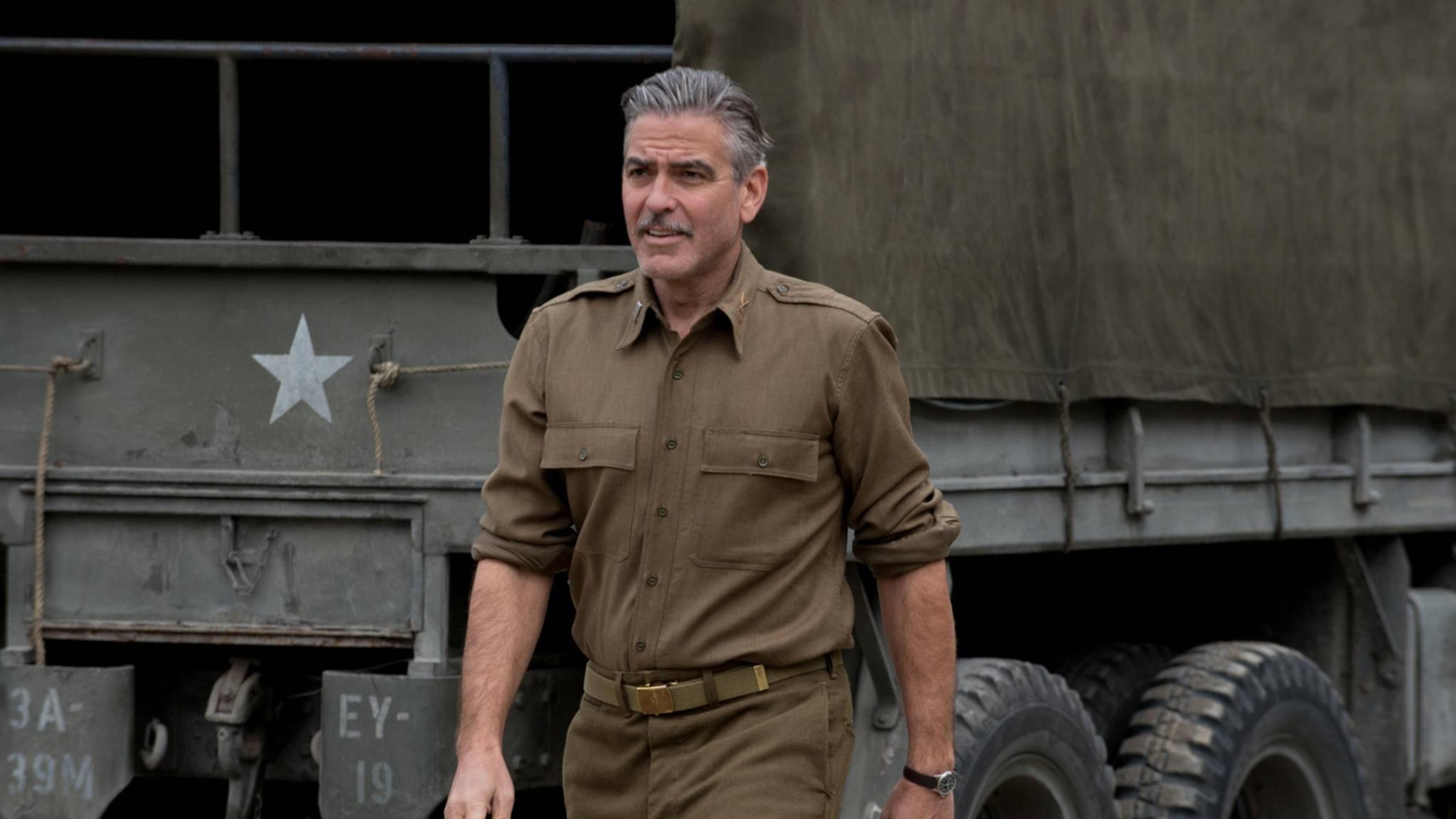 """George Clooney in Militärkleidung ist kein ungewohntes Bild – wie hier aus """"The Monuments Men""""."""