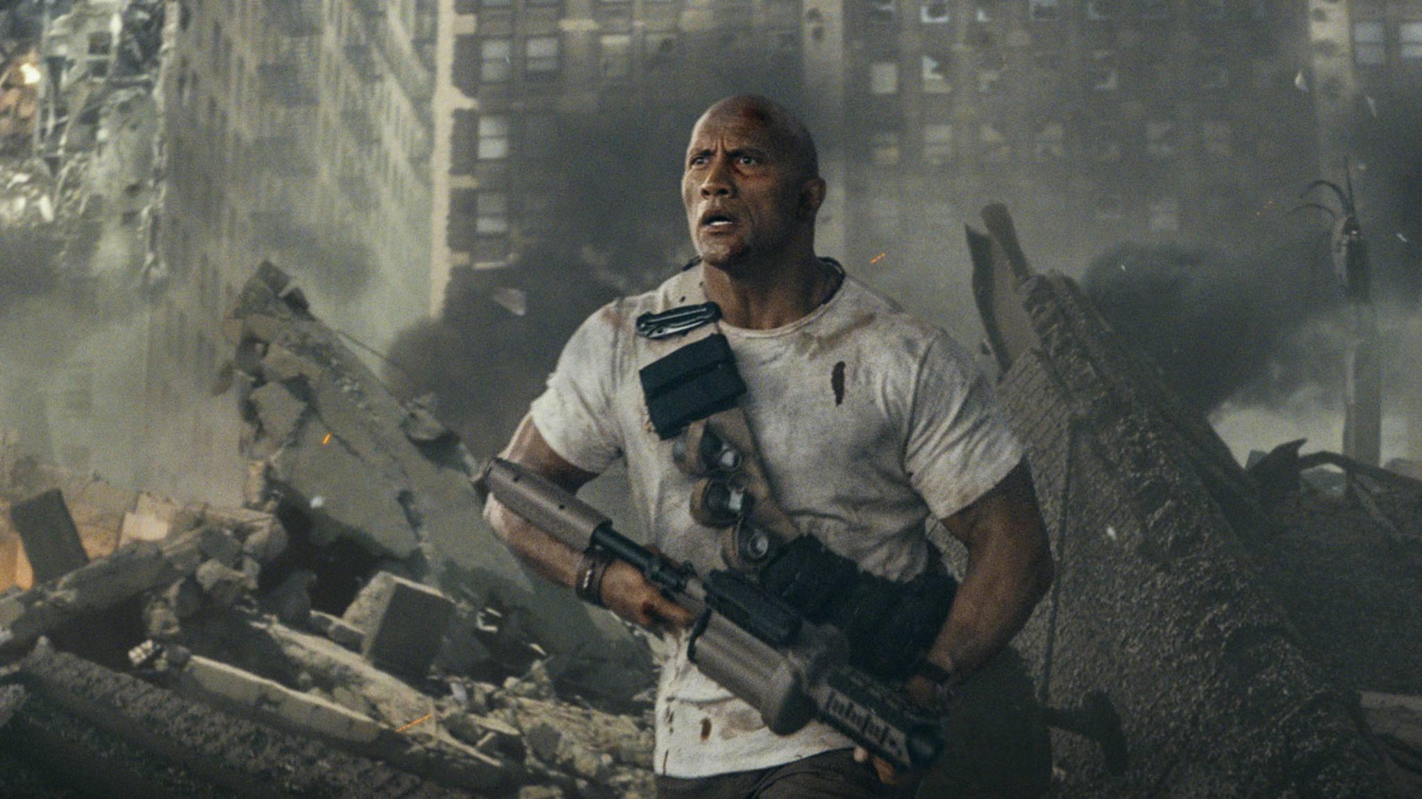 """Geballte Action erwartet Zuschauer in den Trailern zu """"Rampage"""" (hier mit Dwayne Johnson) und """"Avengers: Infinity War""""."""