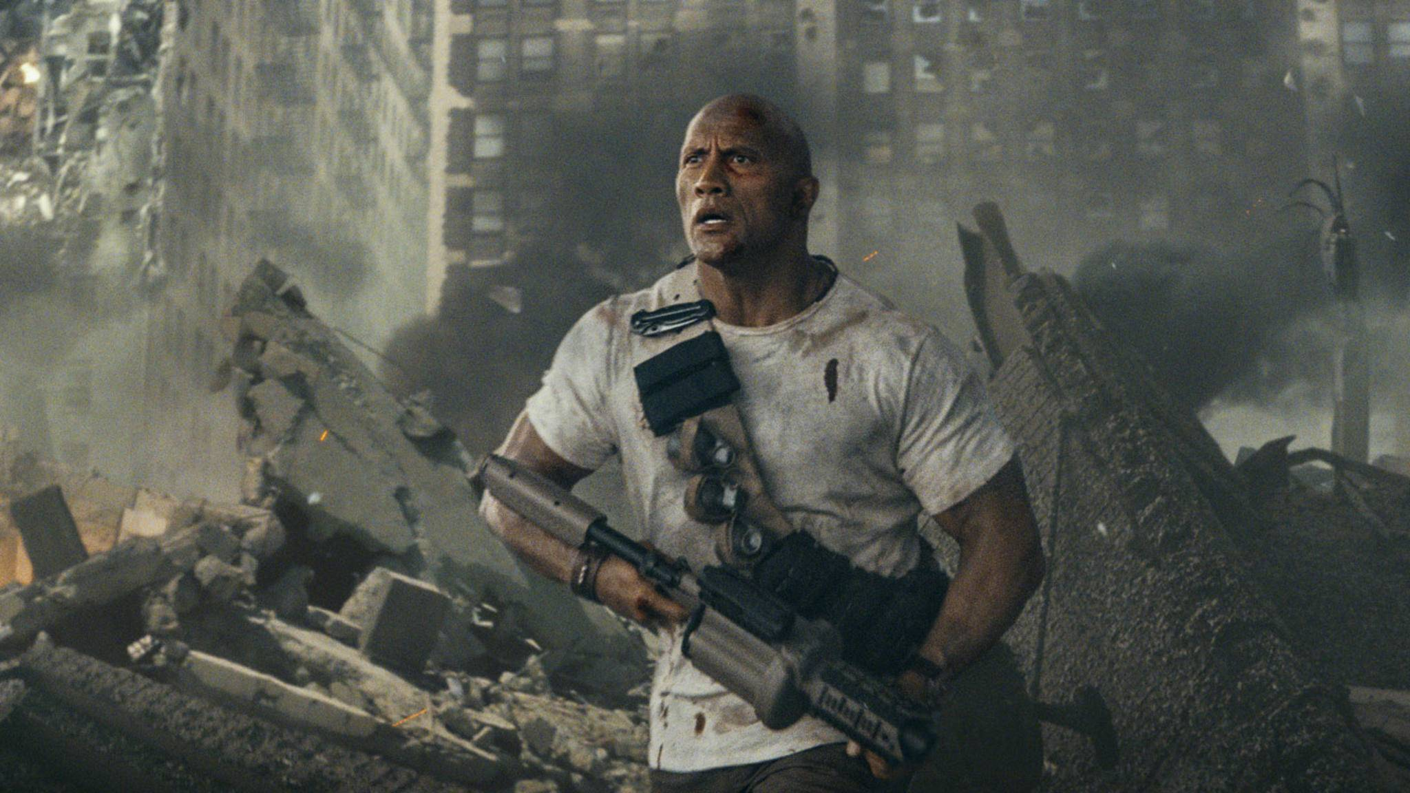 """Dwayne Johnson rettet in """"Rampage"""" mal wieder die Welt."""