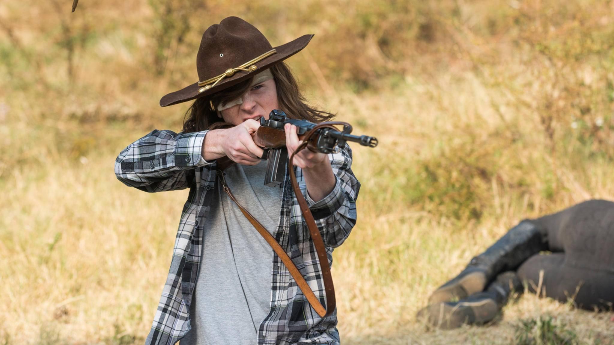 """Bis zum Ende von Staffel 7 hat sich nicht nur die Frisur des """"The Walking Dead""""-Charakters deutlich verändert."""