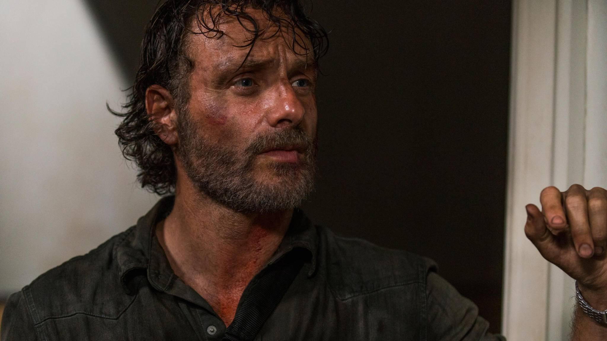 """Die Ereignisse von Staffel 8 nehmen den """"The Walking Dead""""-Helden ziemlich mit."""
