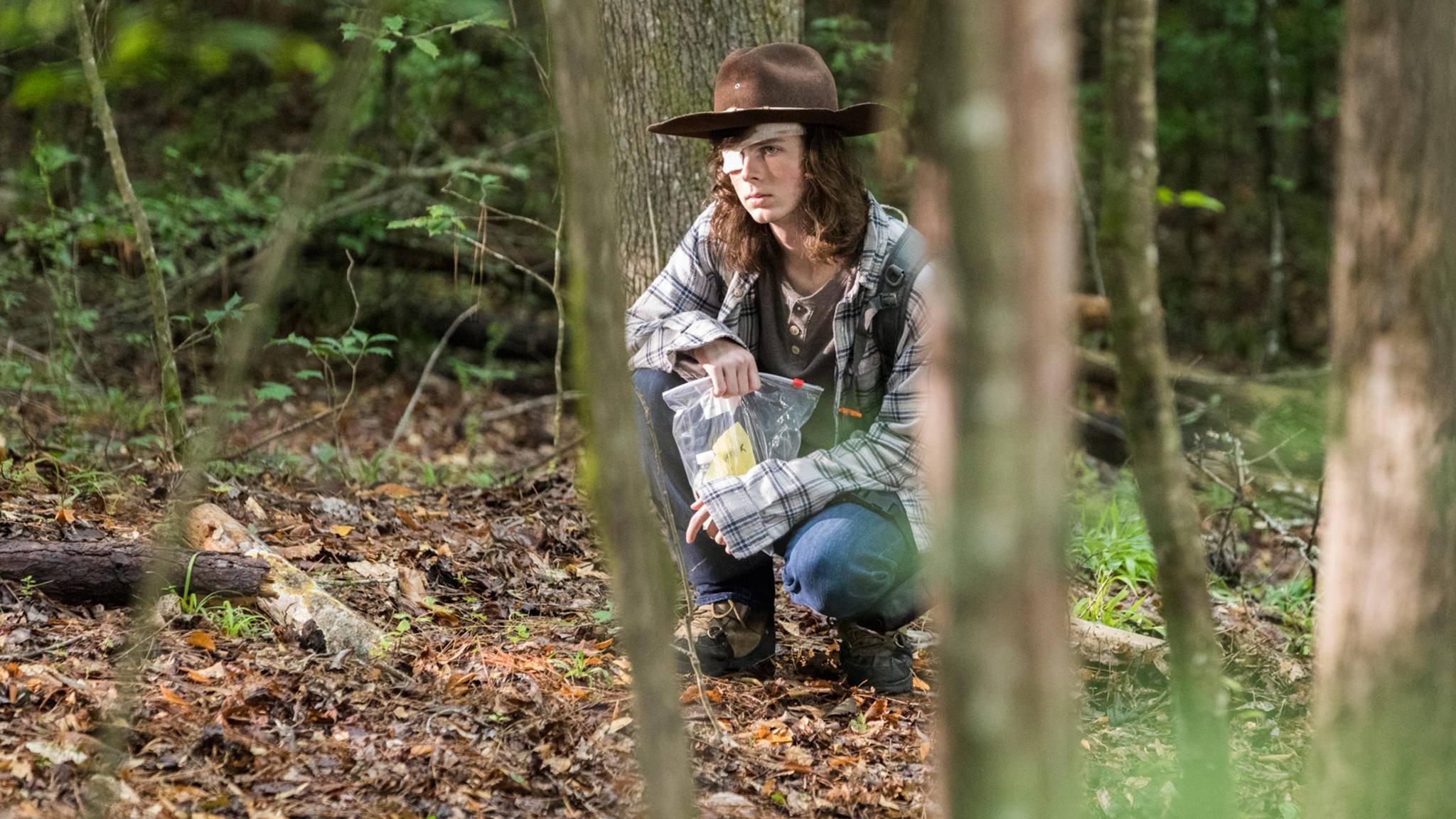 """Von Carl Grimes war in Episode 5 der aktuellen """"The Walking Dead""""-Staffel auffällig wenig zu sehen."""