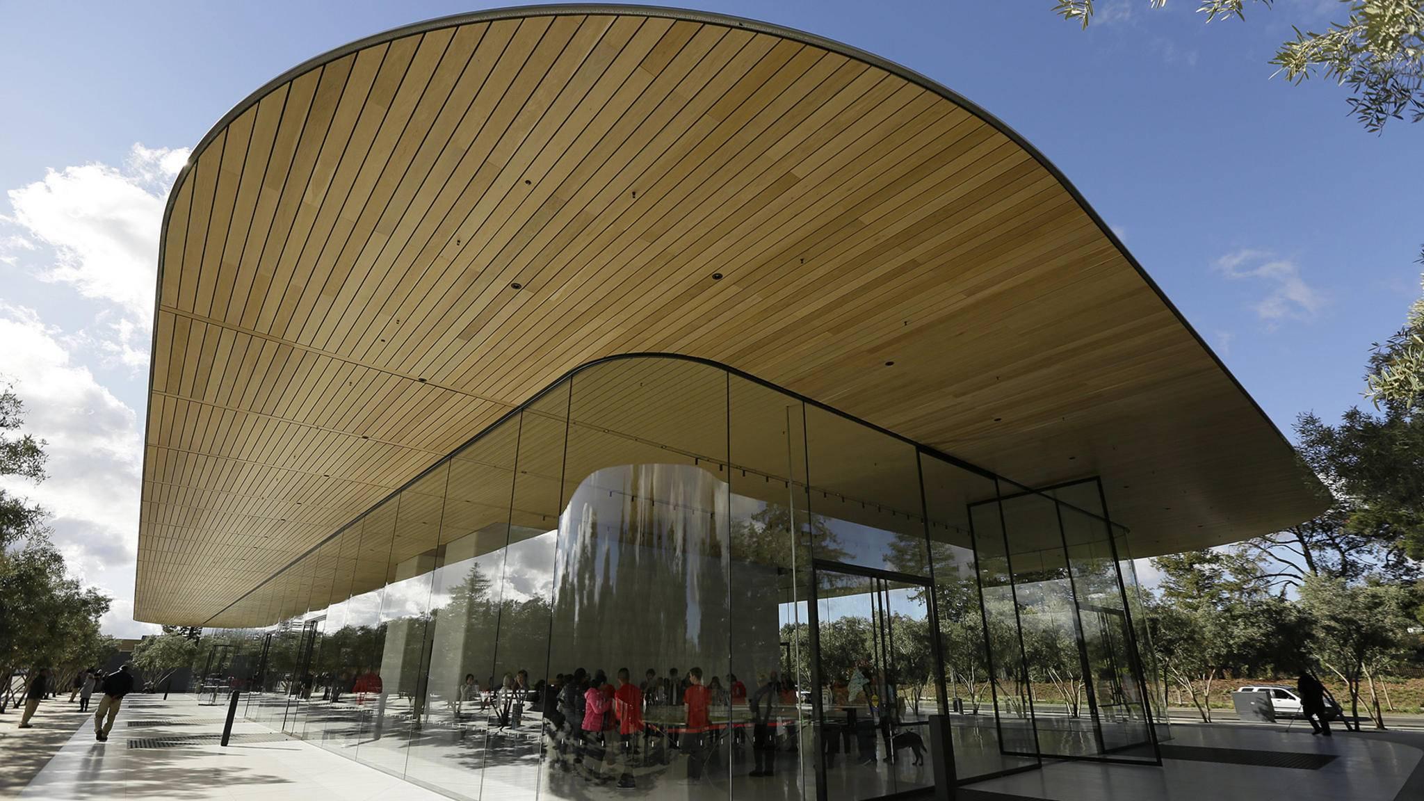 Freut sich ab sofort über Gäste: Das neue Besucherzentrum des Apple Parks ist eröffnet.