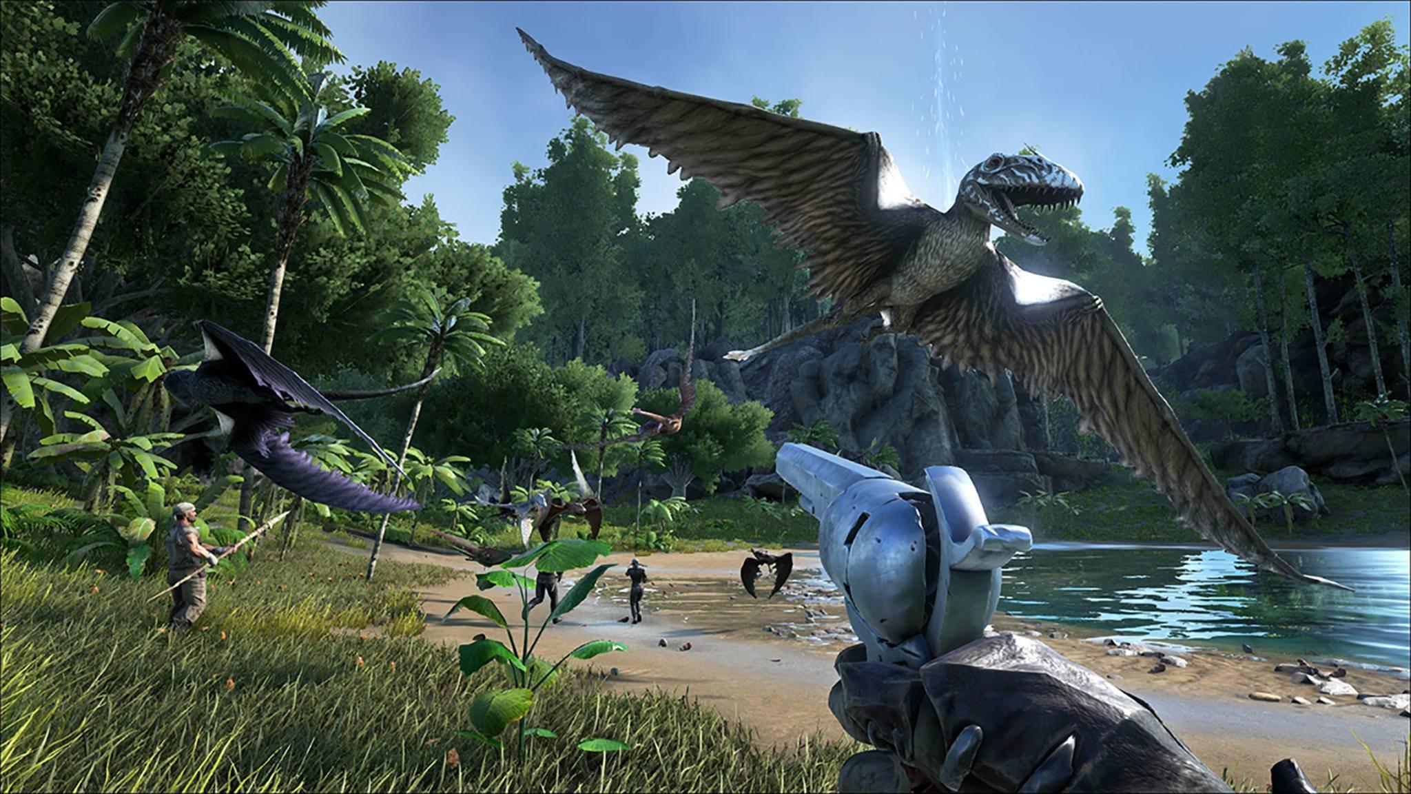"""Gamer mit PC und Xbox One können """"Ark: Survival Evolved"""" jetzt gemeinsam zocken."""