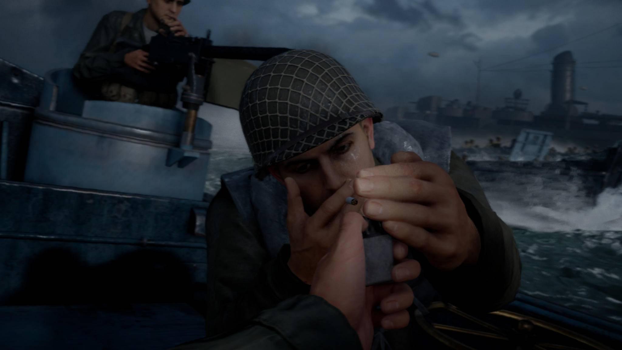 Eine letzte Zigarette am D-Day ...