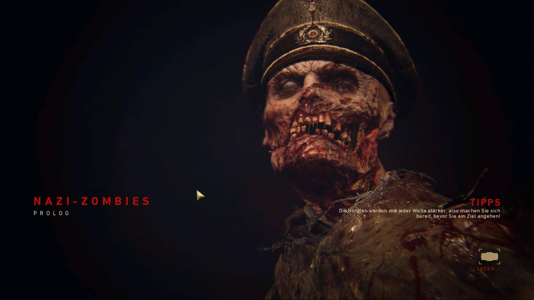 Die Nazi-Zombies sind unerfreuliche Gegner ...