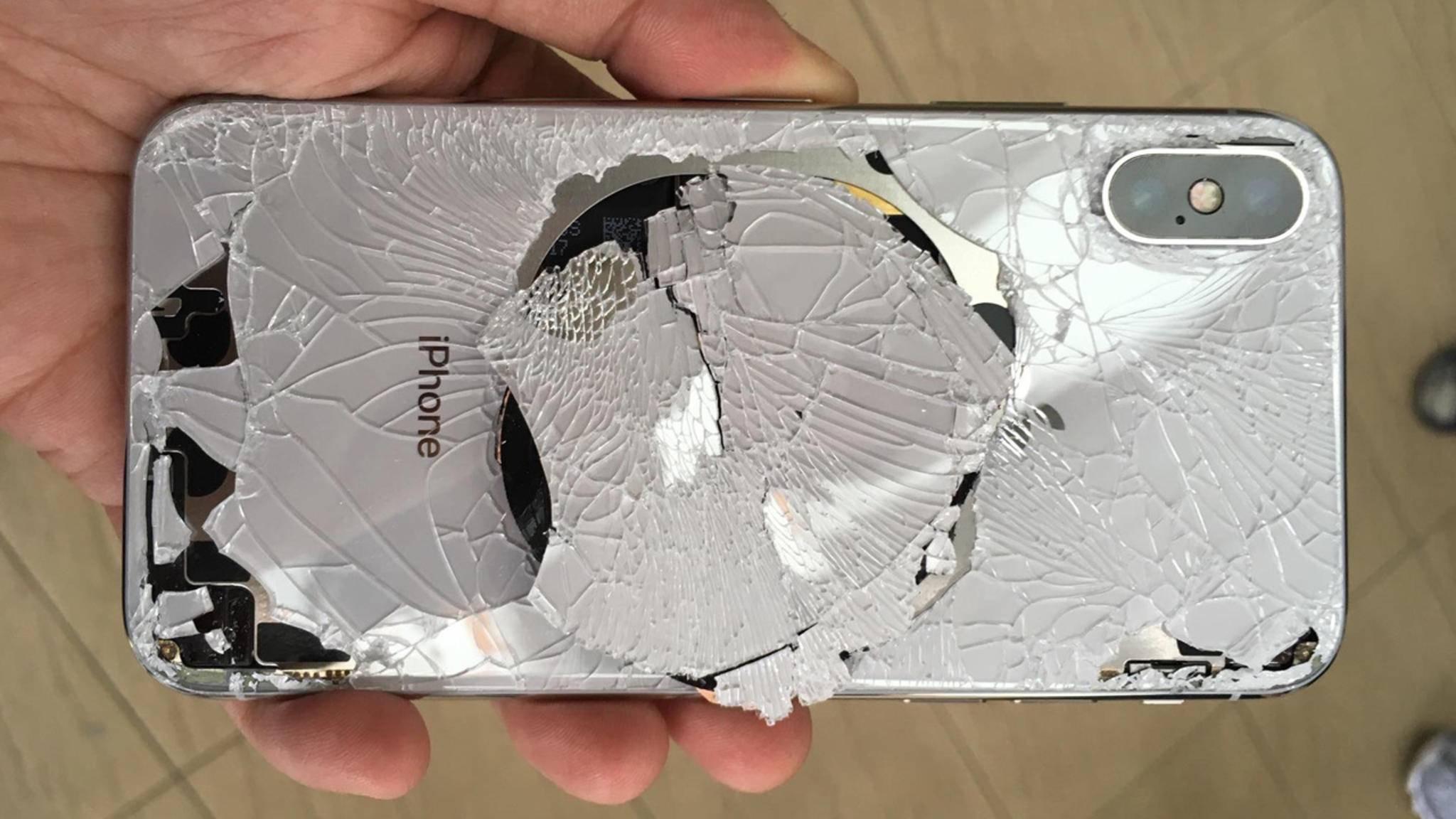 Wenn das iPhone X kaputt geht, dann so richtig.