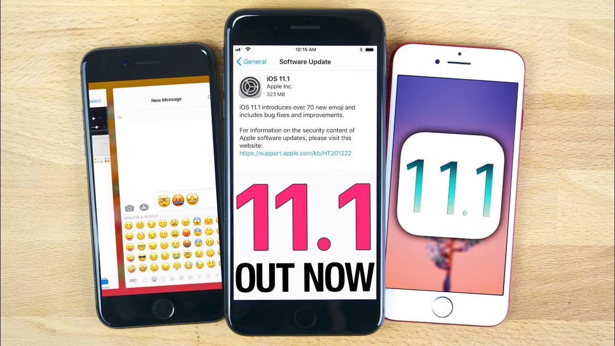 Apple hat iOS 11 als kostenlosen Download bereitgestellt.