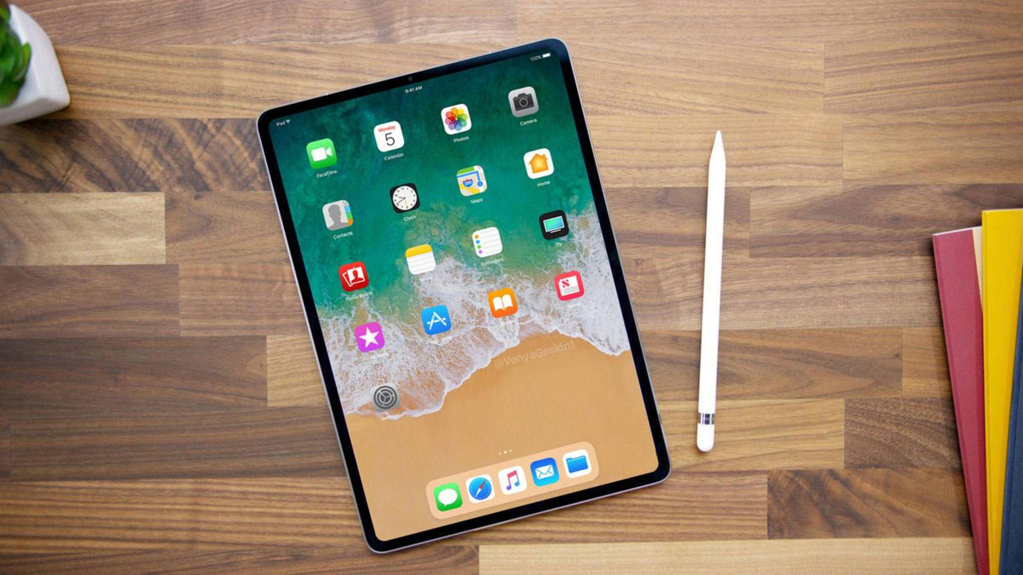 Dünne Displayränder und kein Home-Button: So könnte das neue iPad Pro 2018 aussehen.