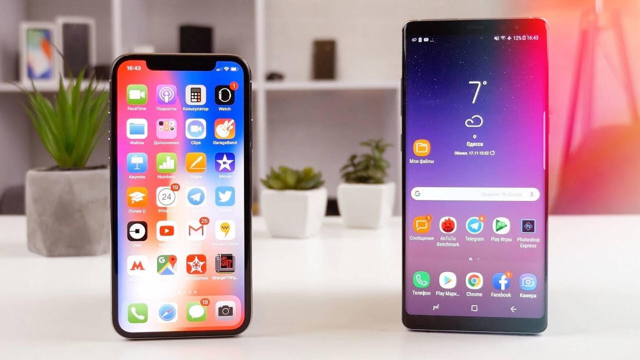 In Südkorea verleiht Samsung das neue Galaxy S8 und Galaxy Note 8 noch vor dem Release des iPhone X an Interessierte.