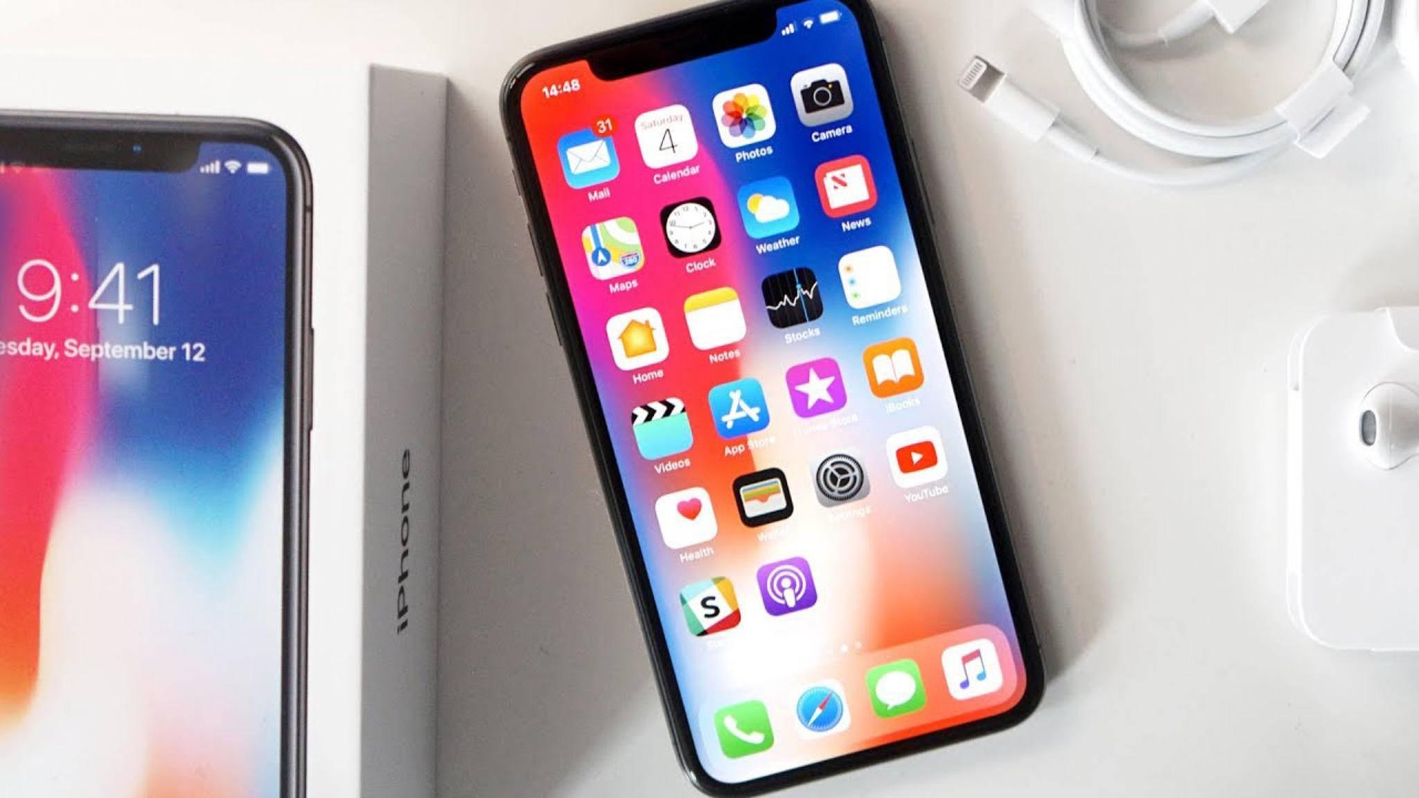 Beim iPhone X ist die Akkuanzeige in Prozent etwas versteckt.