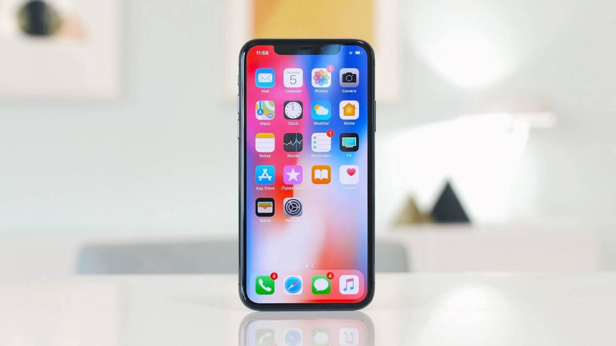Zu wertvoll, um es ungeschützt zu nutzen: das iPhone X.