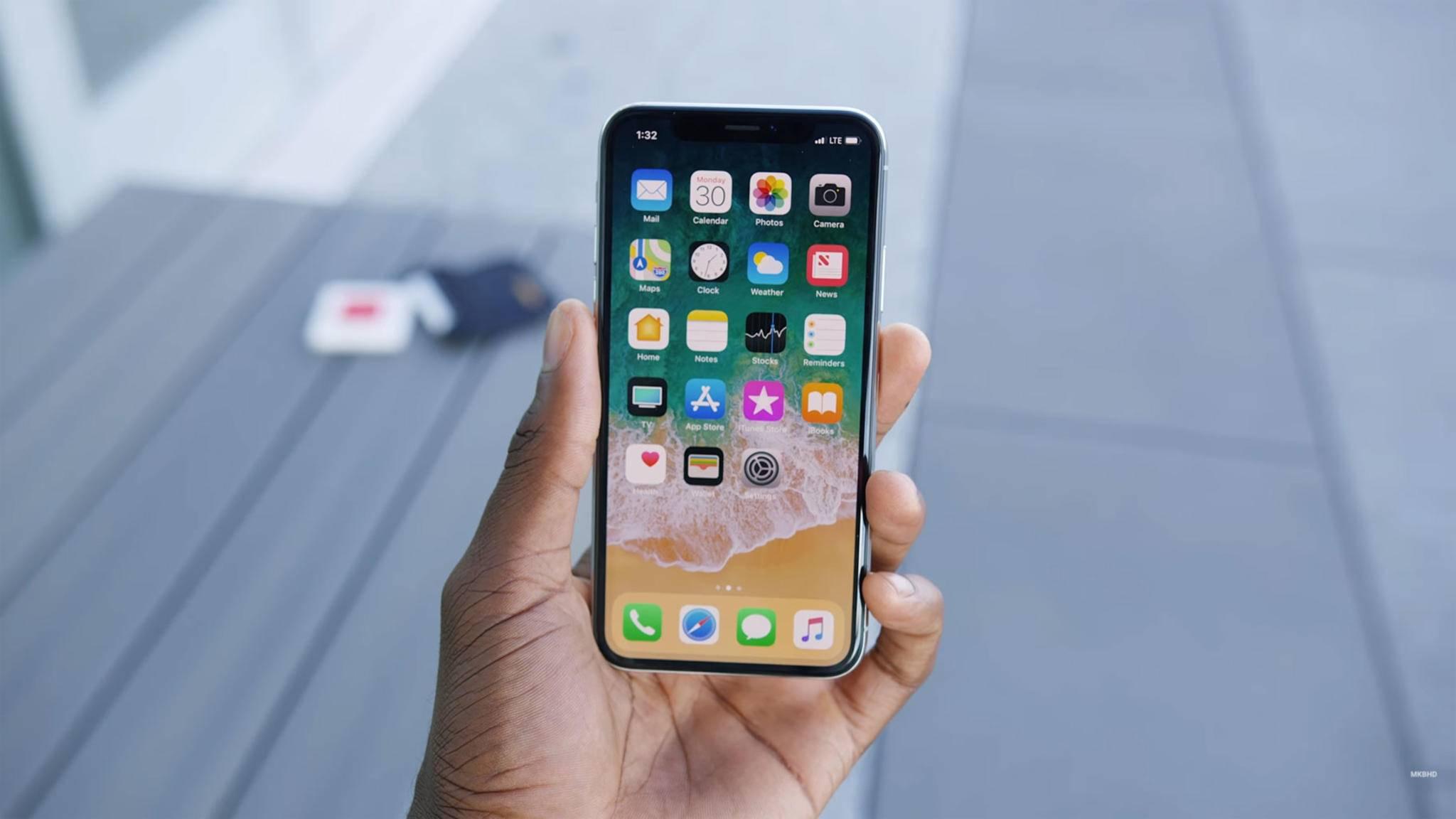 Das Design des iPhone X soll schon seit vergangenem Jahr fix gewesen sein.